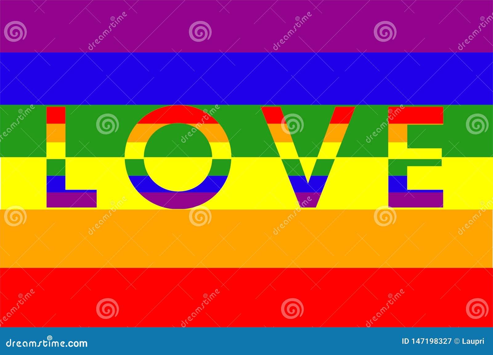Bandera Arcoiris Movimiento Lgtbi Stock Illustration Illustration Of Drawn Graphic 147198327