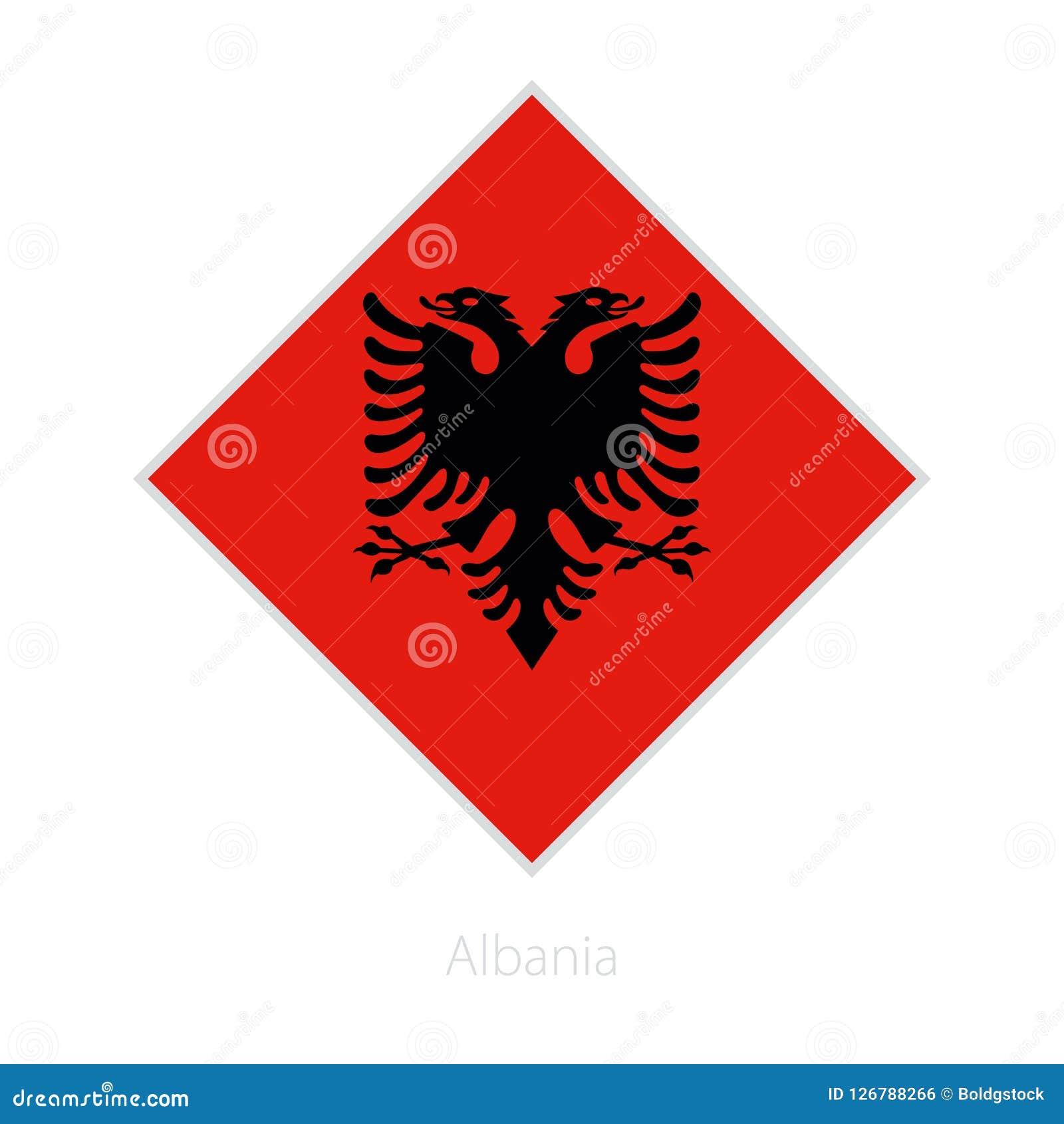 Flaga Albania uczestnik Europa futbolu rywalizacja