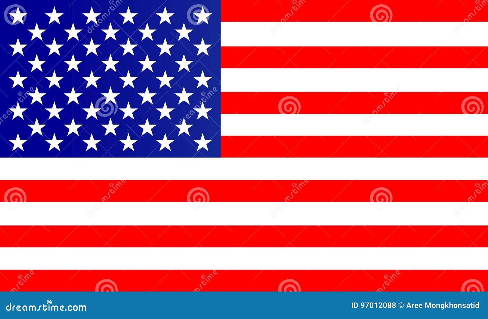 Flaga Amerykańska wektor