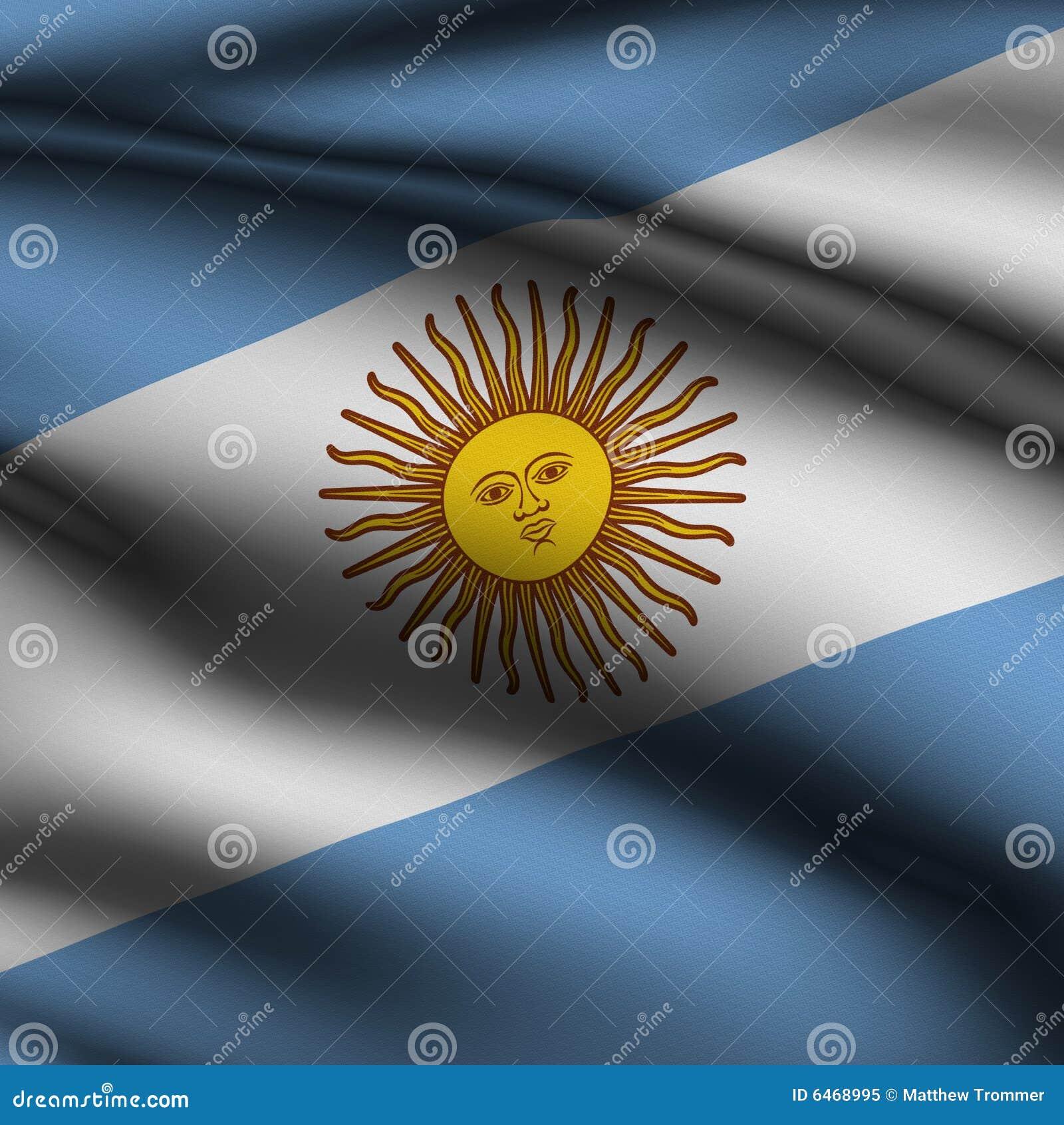 Flaga argentine pozbawione wycięte