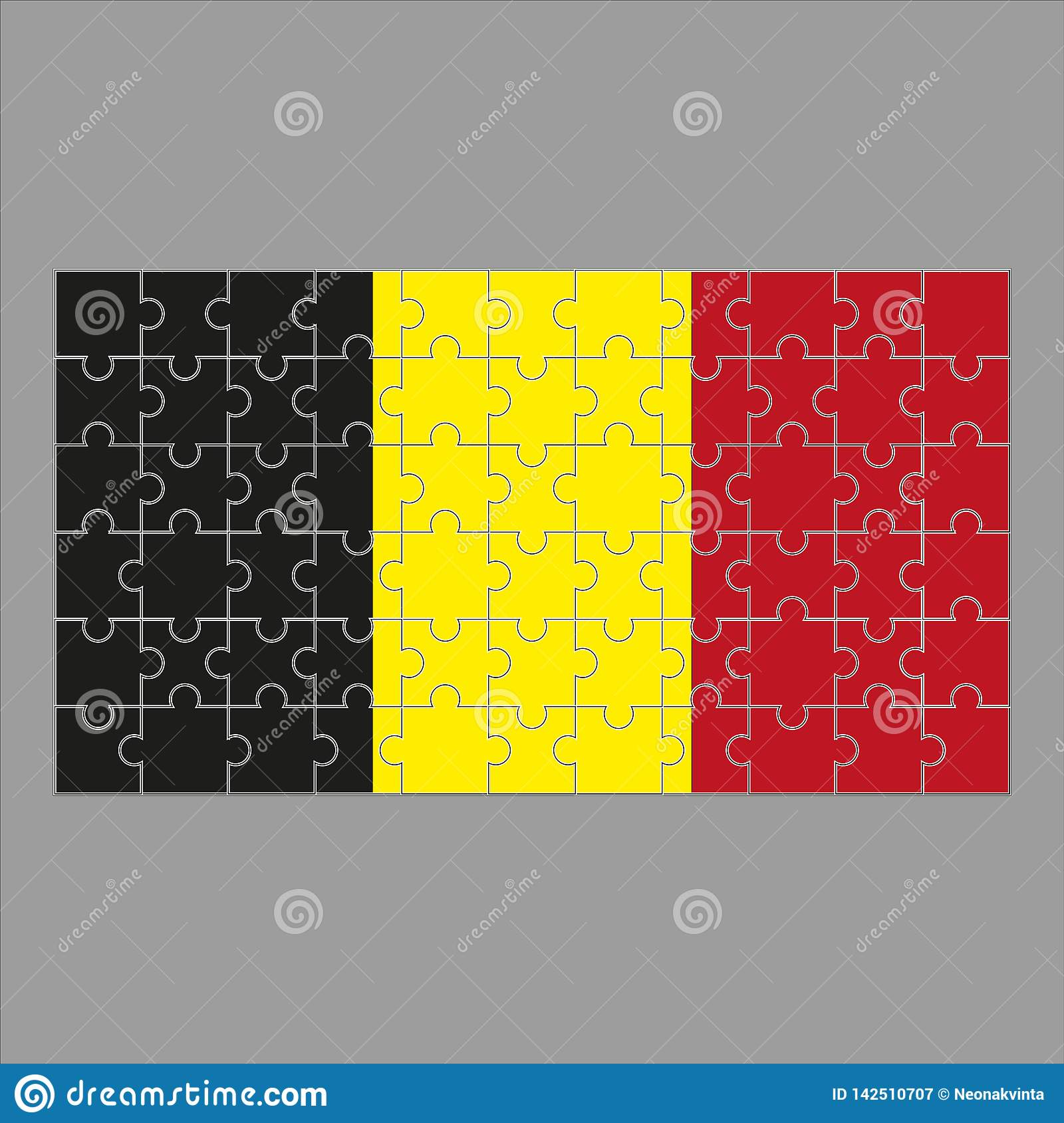 Flaga Belgia ?amig?