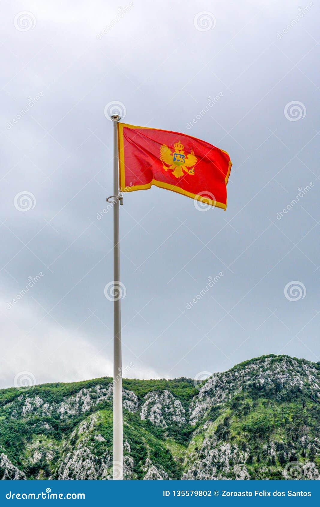 Flaga brać w Kotor Montenegro