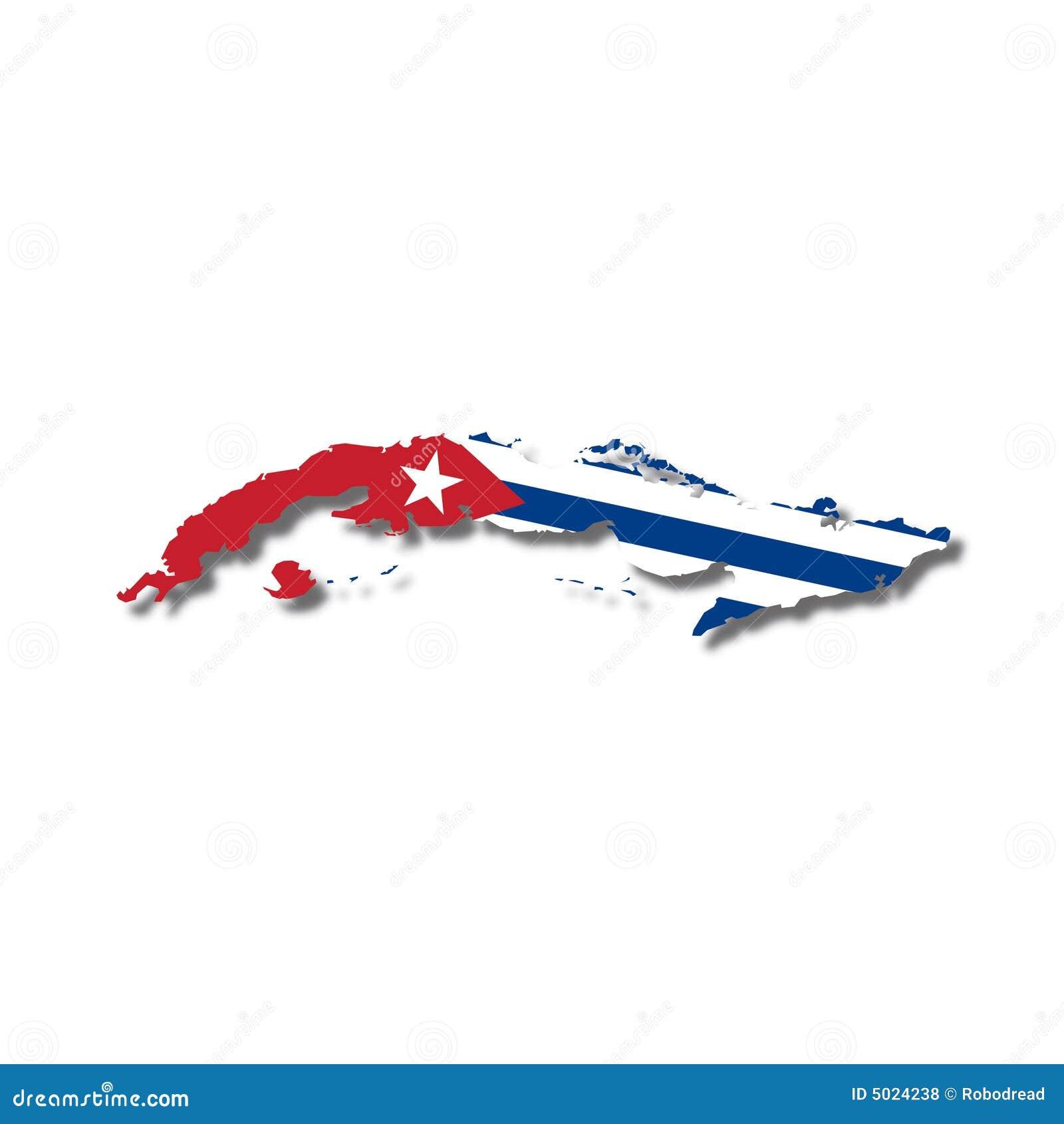 Flaga cuba mapy wektora