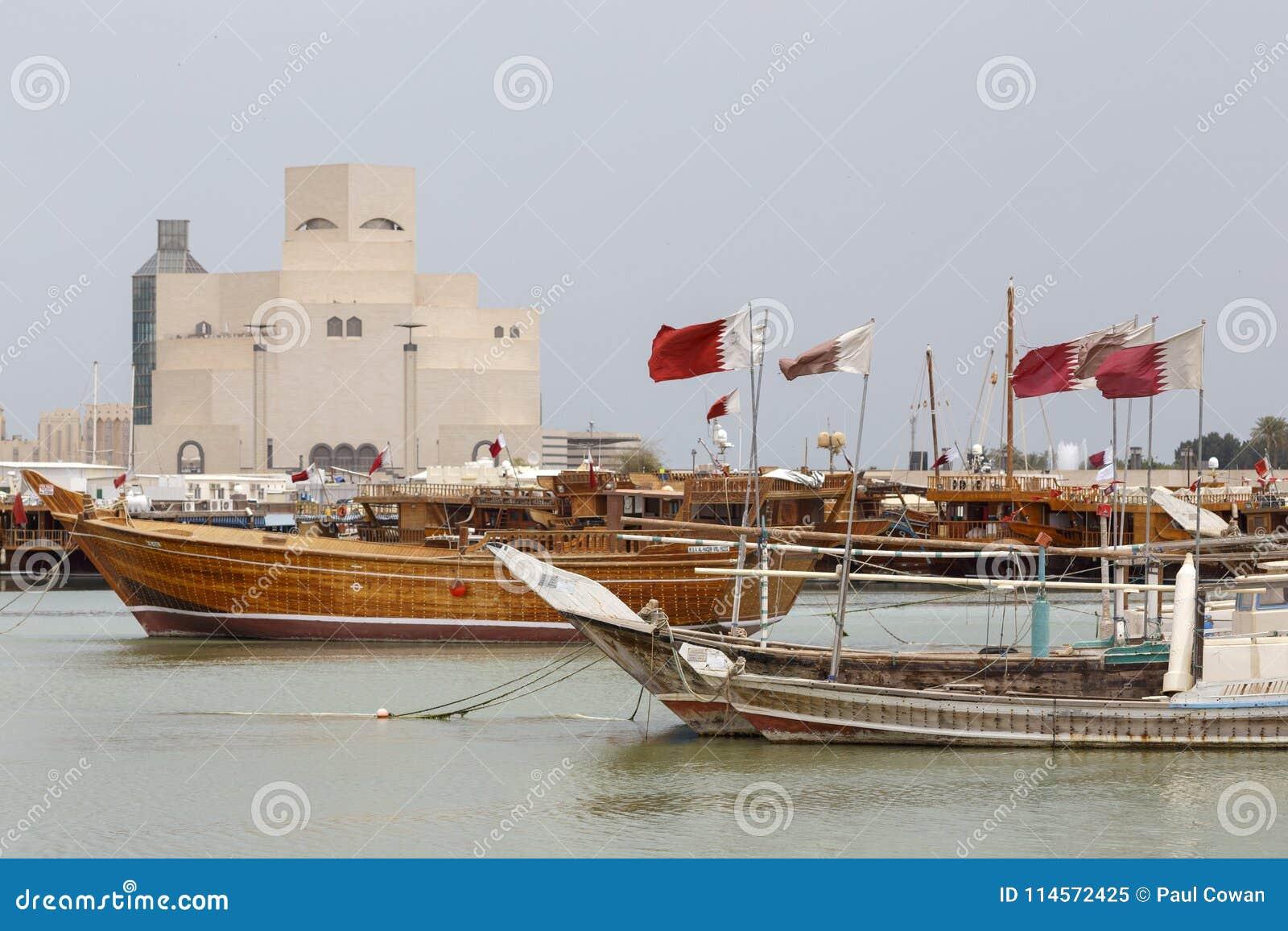 Flaga, dhows i Islamski muzeum sztuki,
