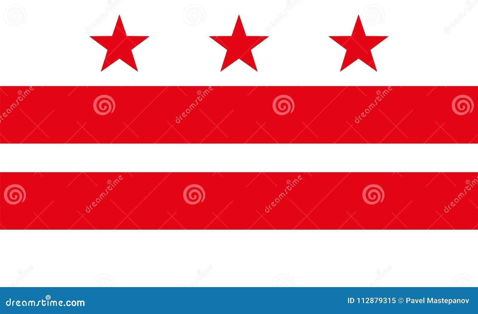 Flaga dystrykt kolumbii