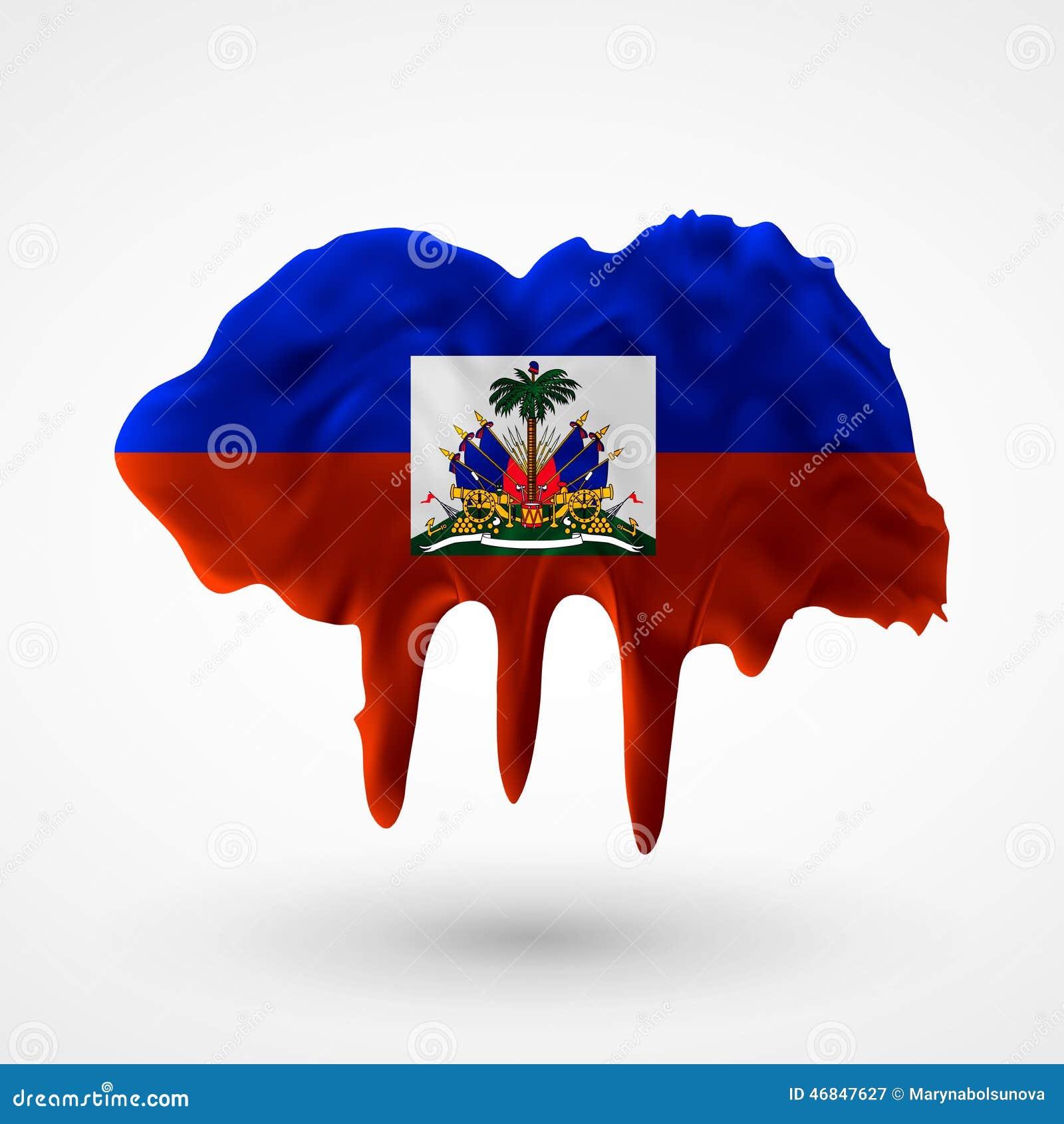 Flaga Haiti malował kolory