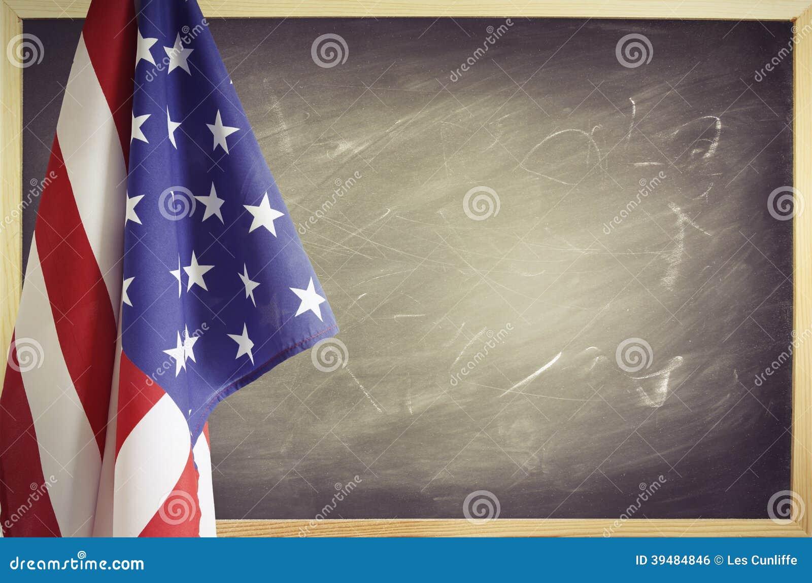 Flaga i blackboard