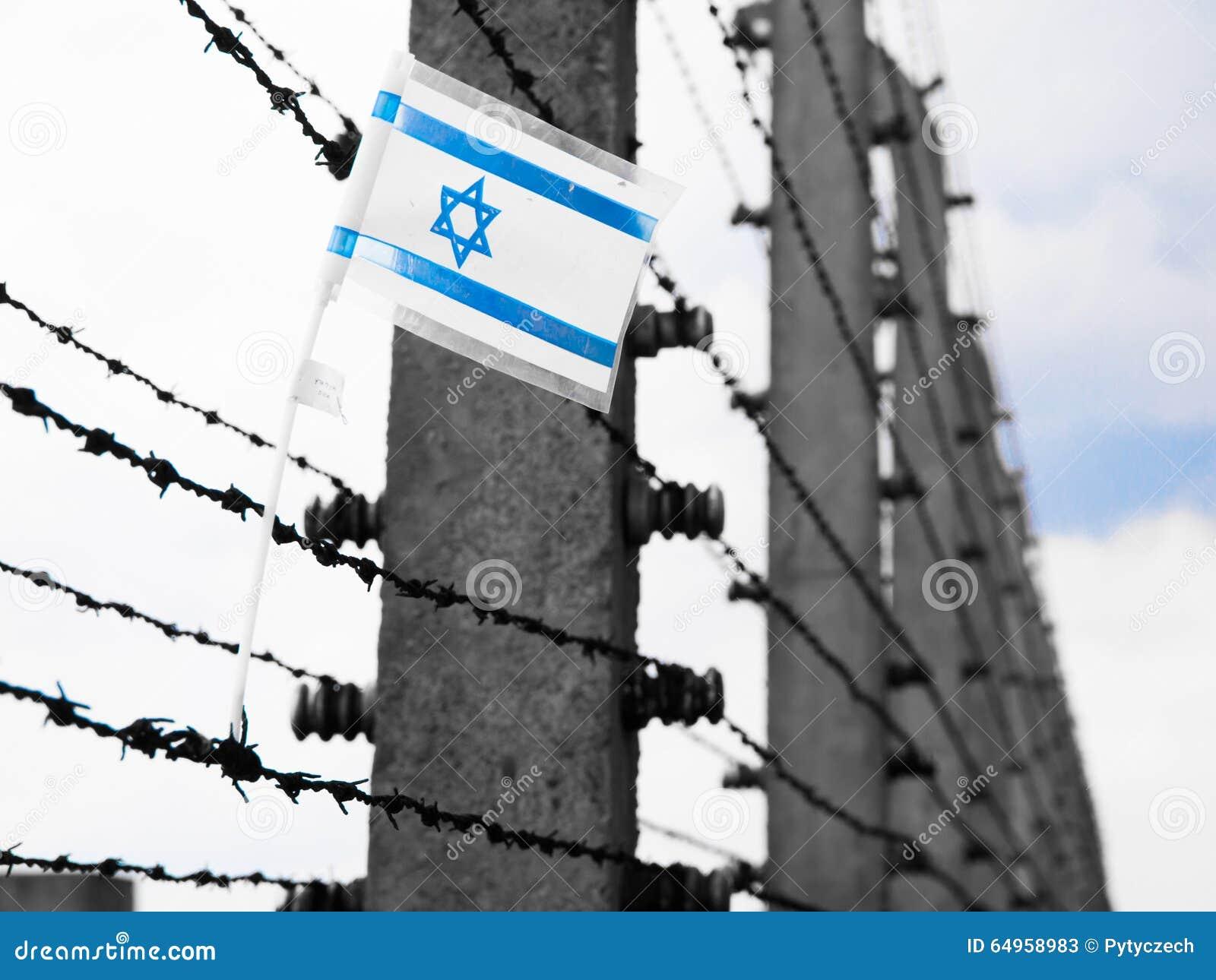 Flaga Izrael na barbwire