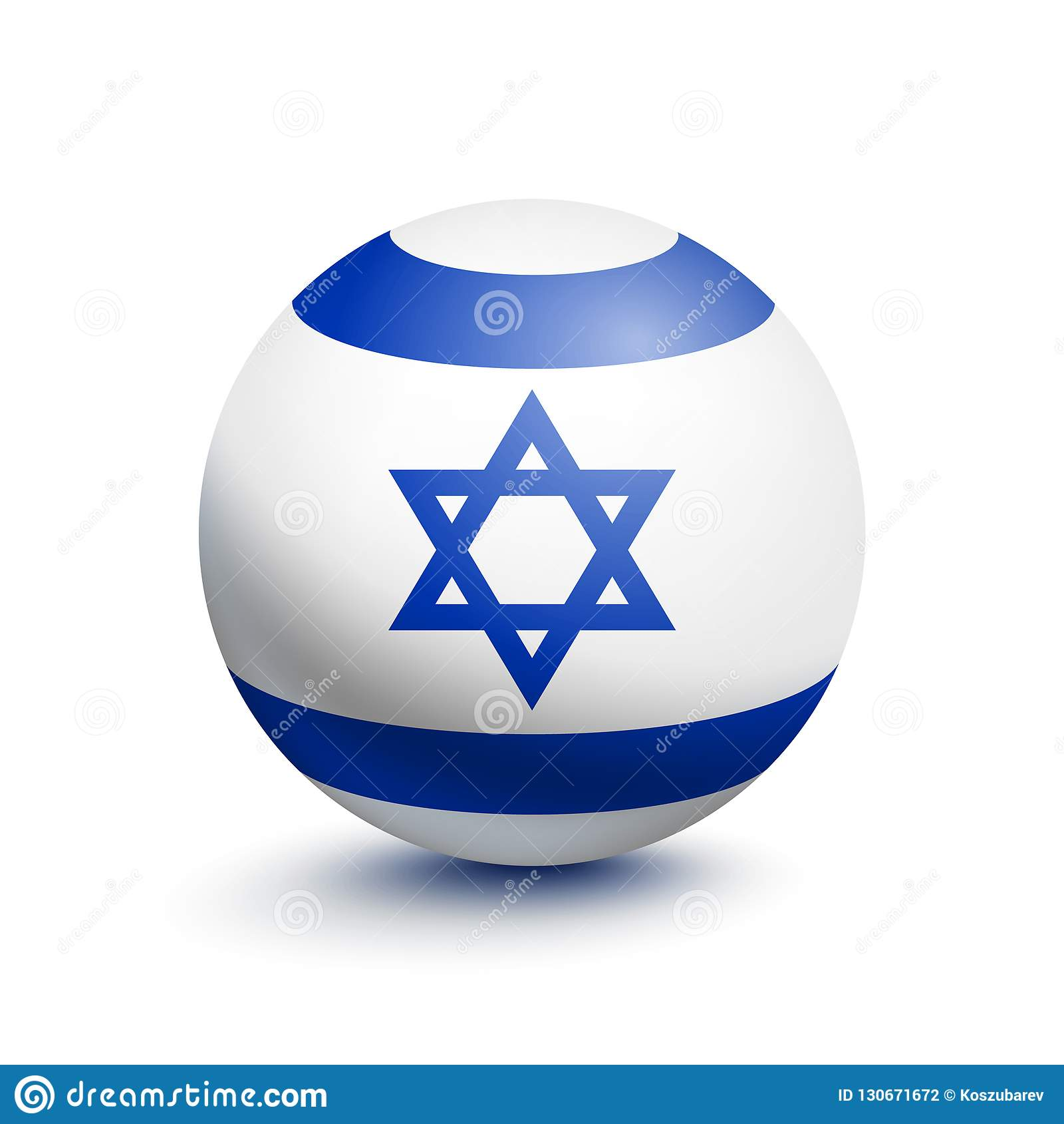 Flaga Izrael w postaci piłki
