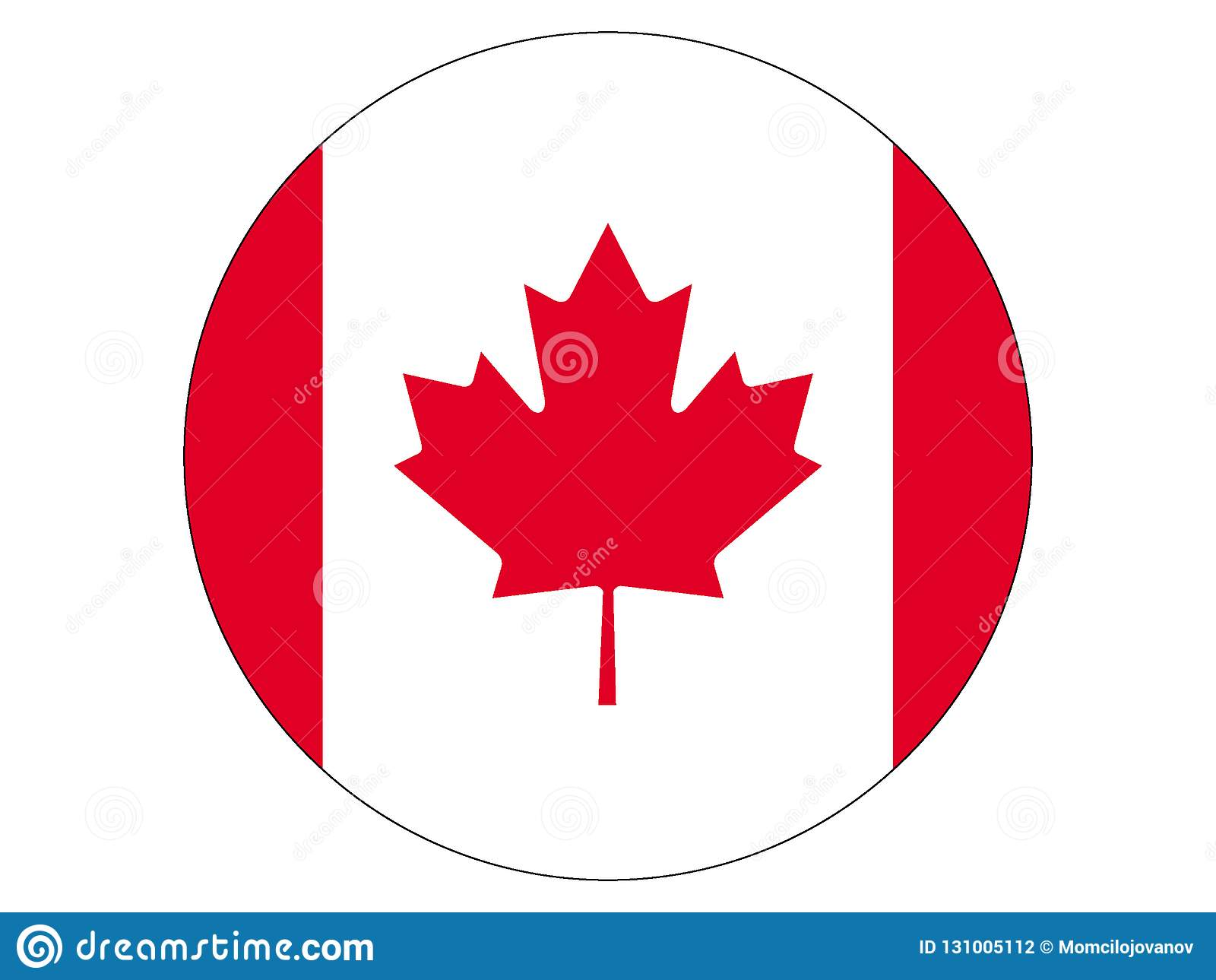 Flaga kanady round