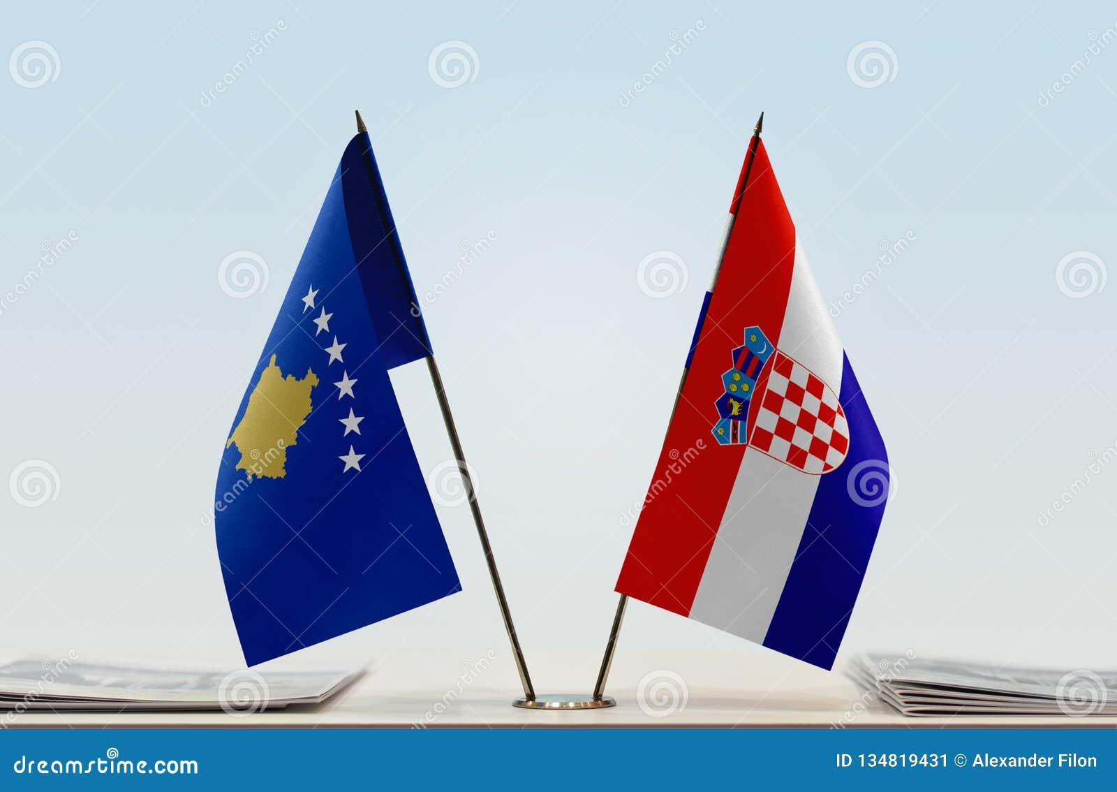 Flaga Kosowo i Chorwacja