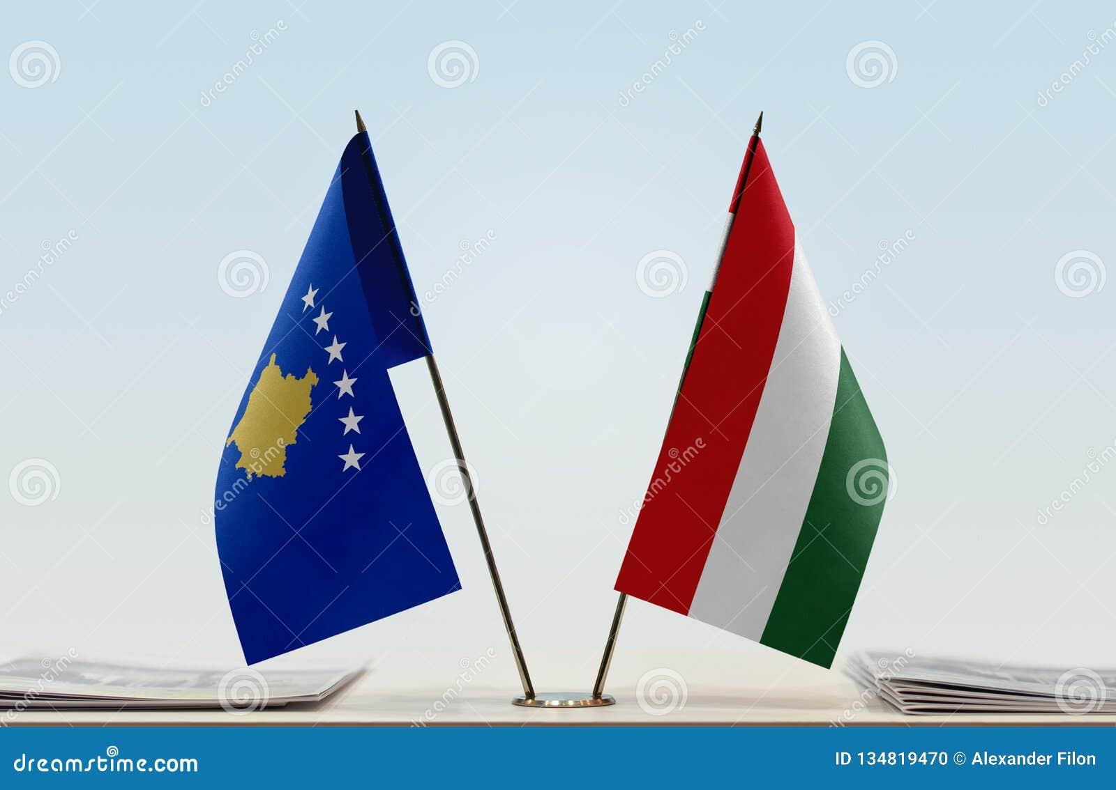 Flaga Kosowo i Węgry