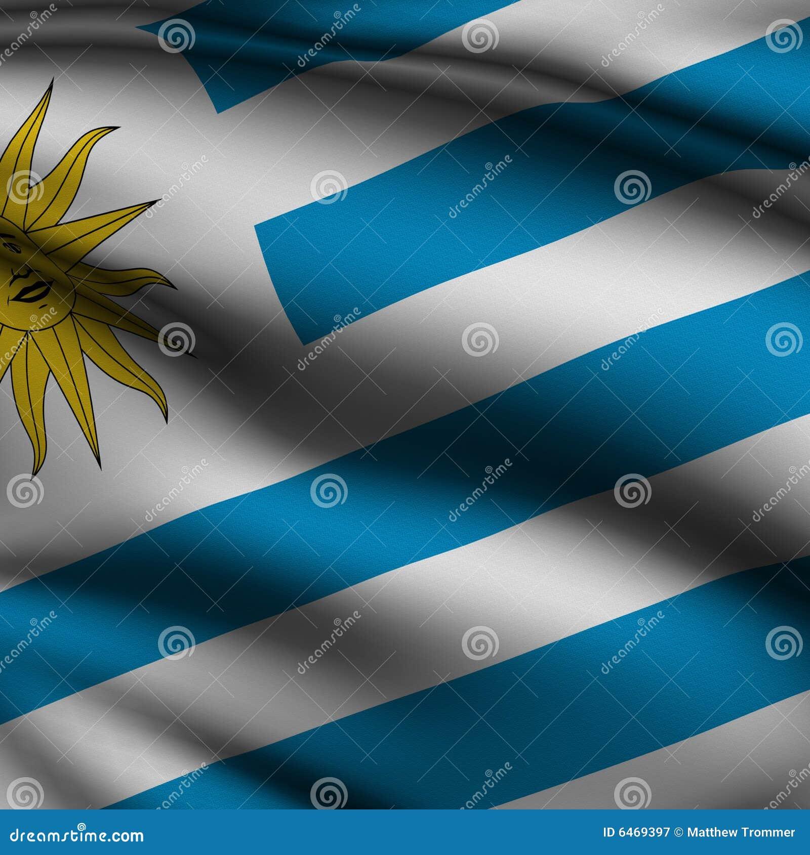 Flaga kwadratowego uruguayan topione