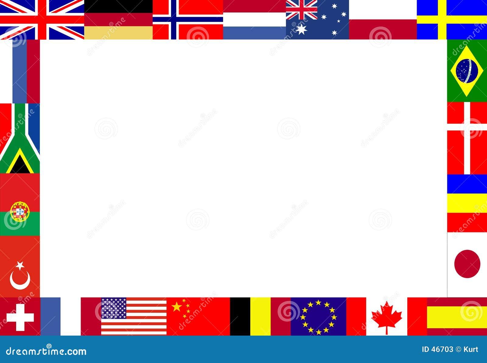 Flaga obramiają wielokrotności