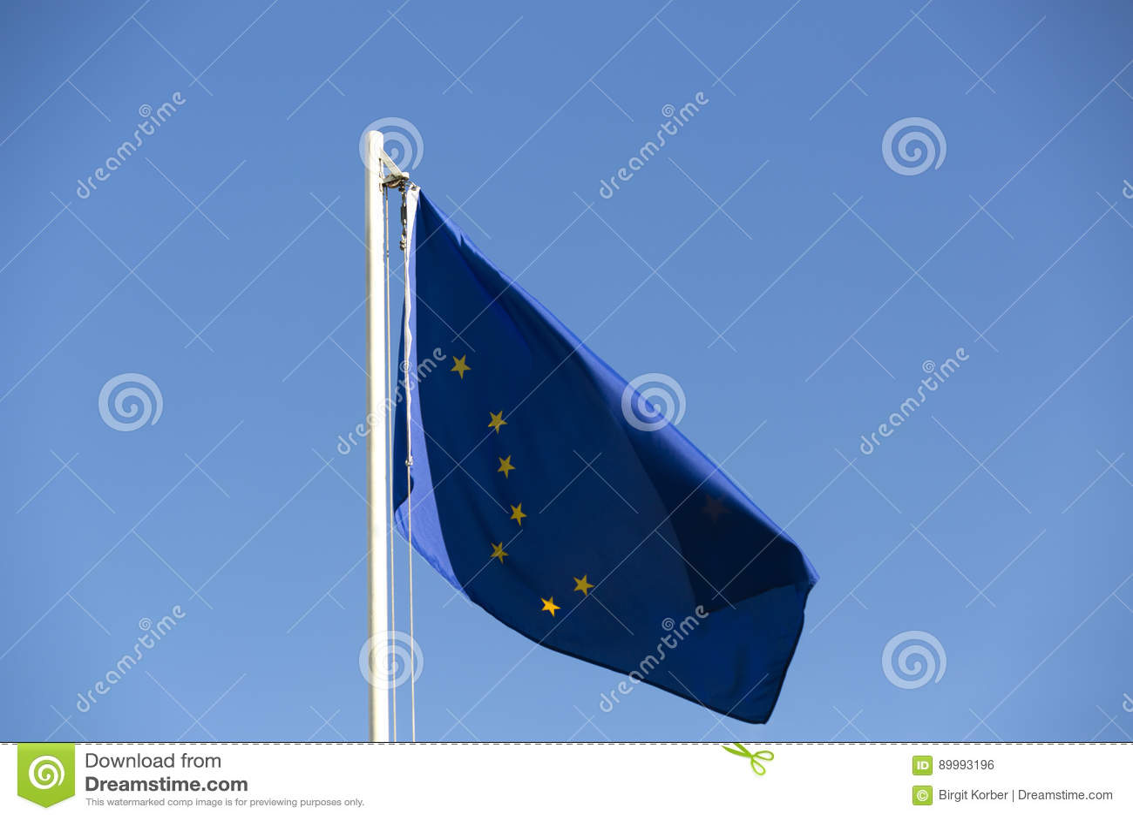 Flaga państowowa Alaska na flagpole