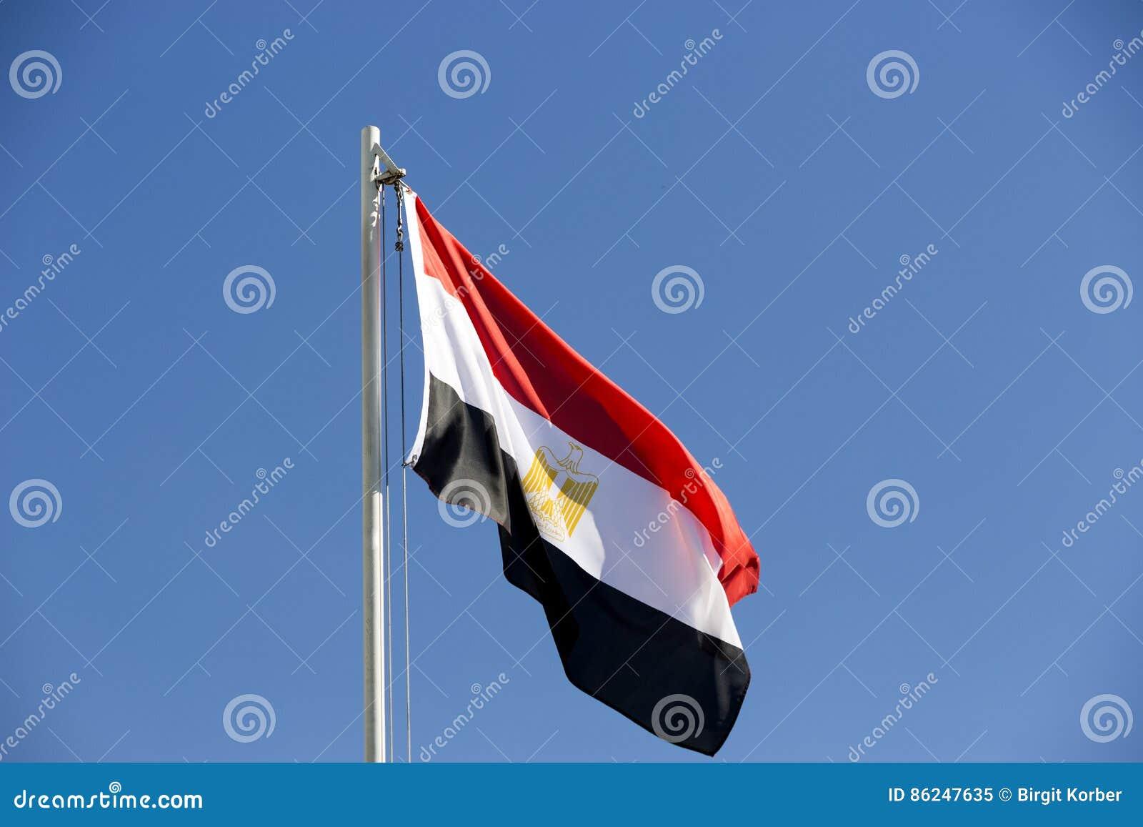 Flaga państowowa Egipt na flagpole