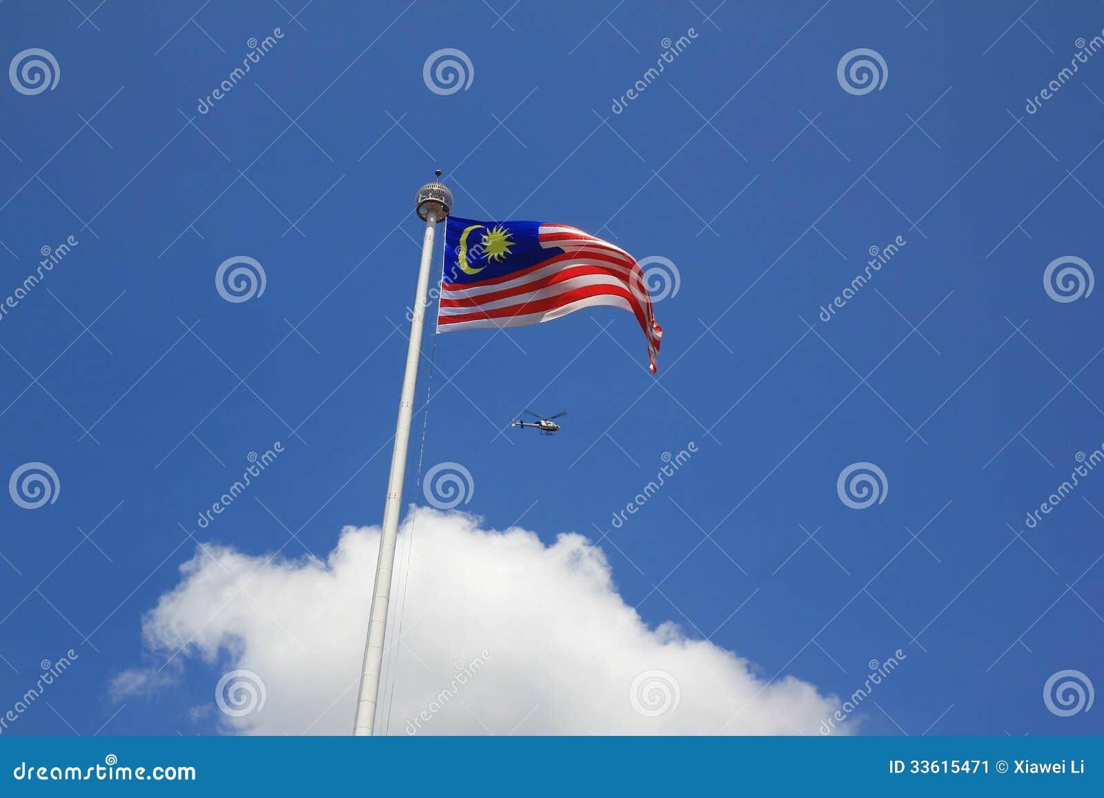 Flaga państowowa Malaysia merdeca kwadrat