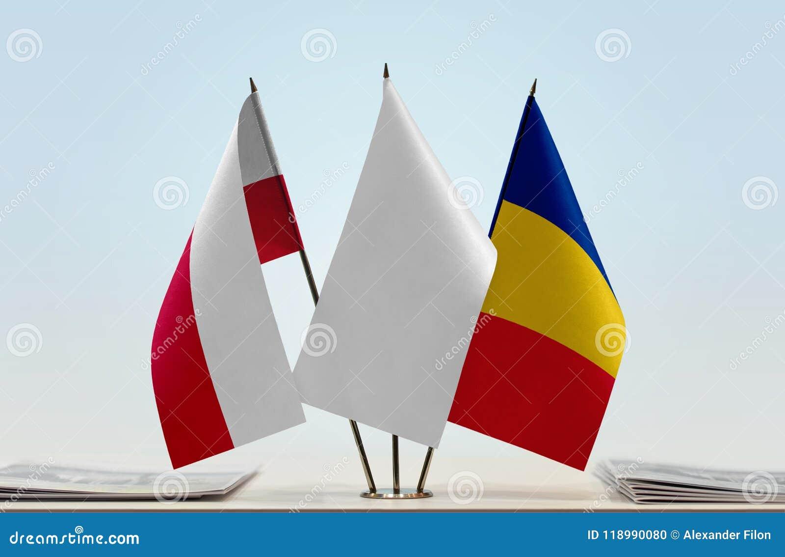 Flaga Polska i Rumunia
