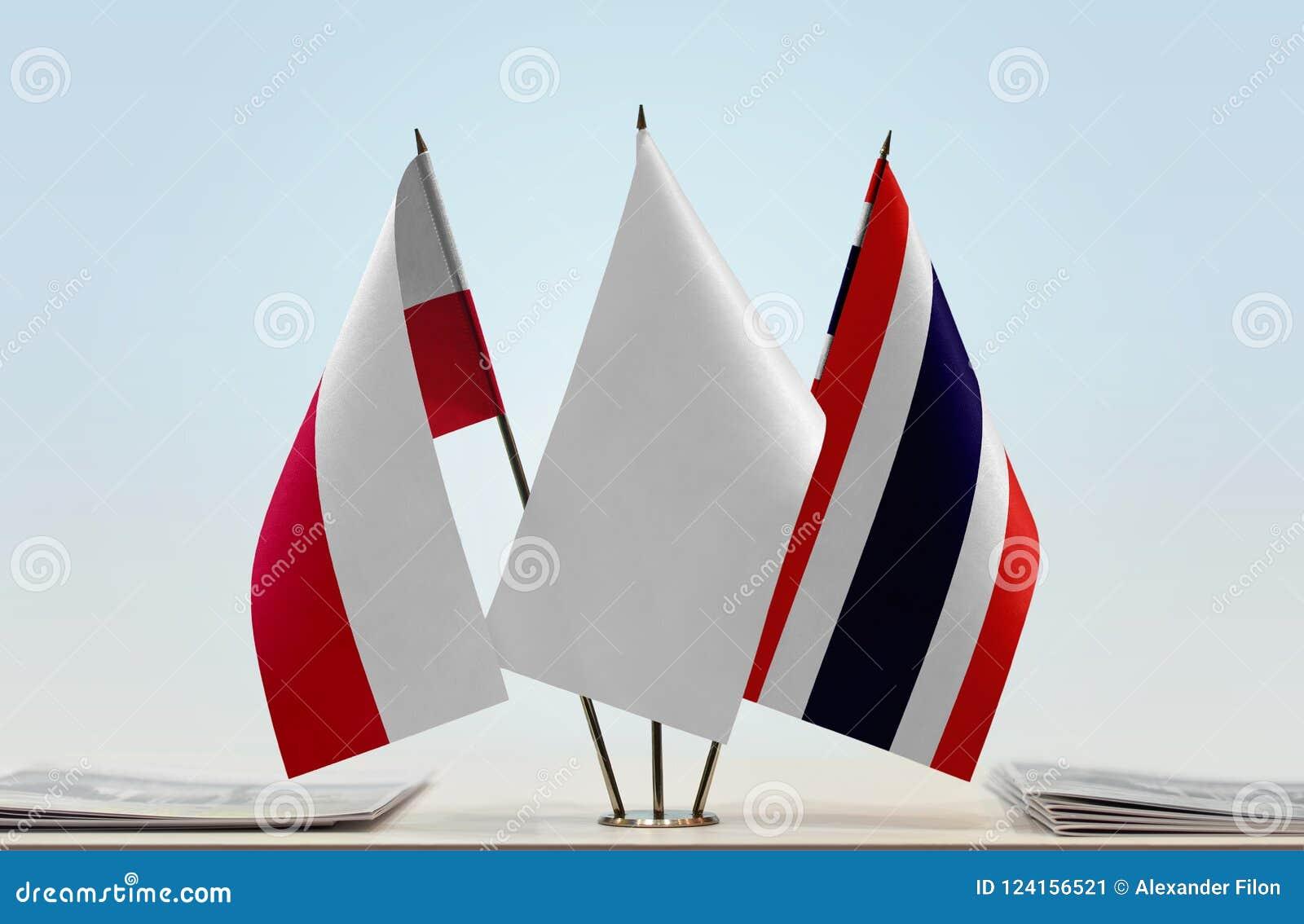 Flaga Polska i Tajlandia
