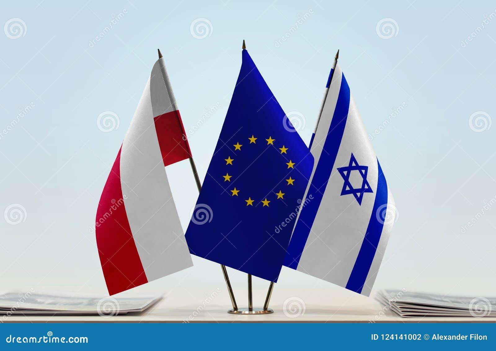 Flaga Polska UE i Izrael