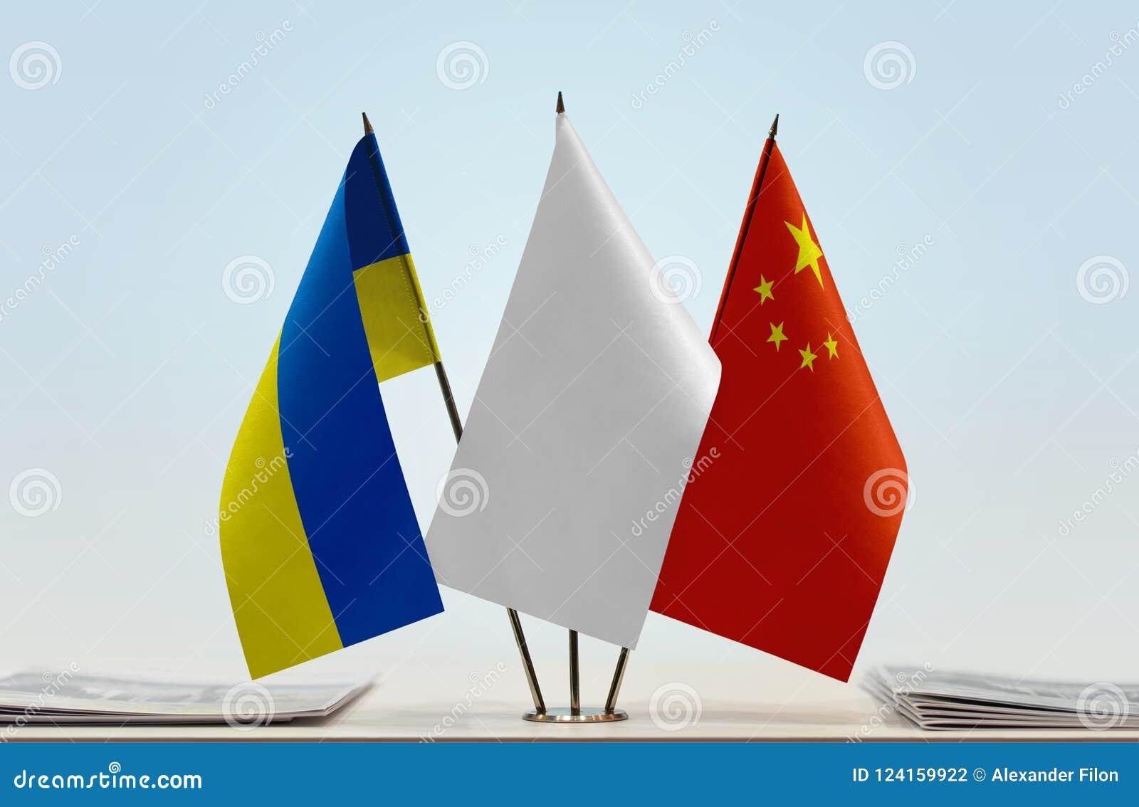 Flaga Ukraina i Chiny