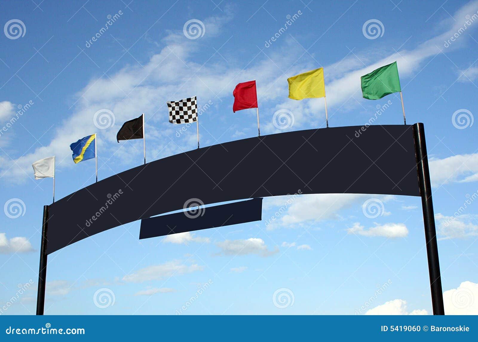 Flaga wyścigów znak