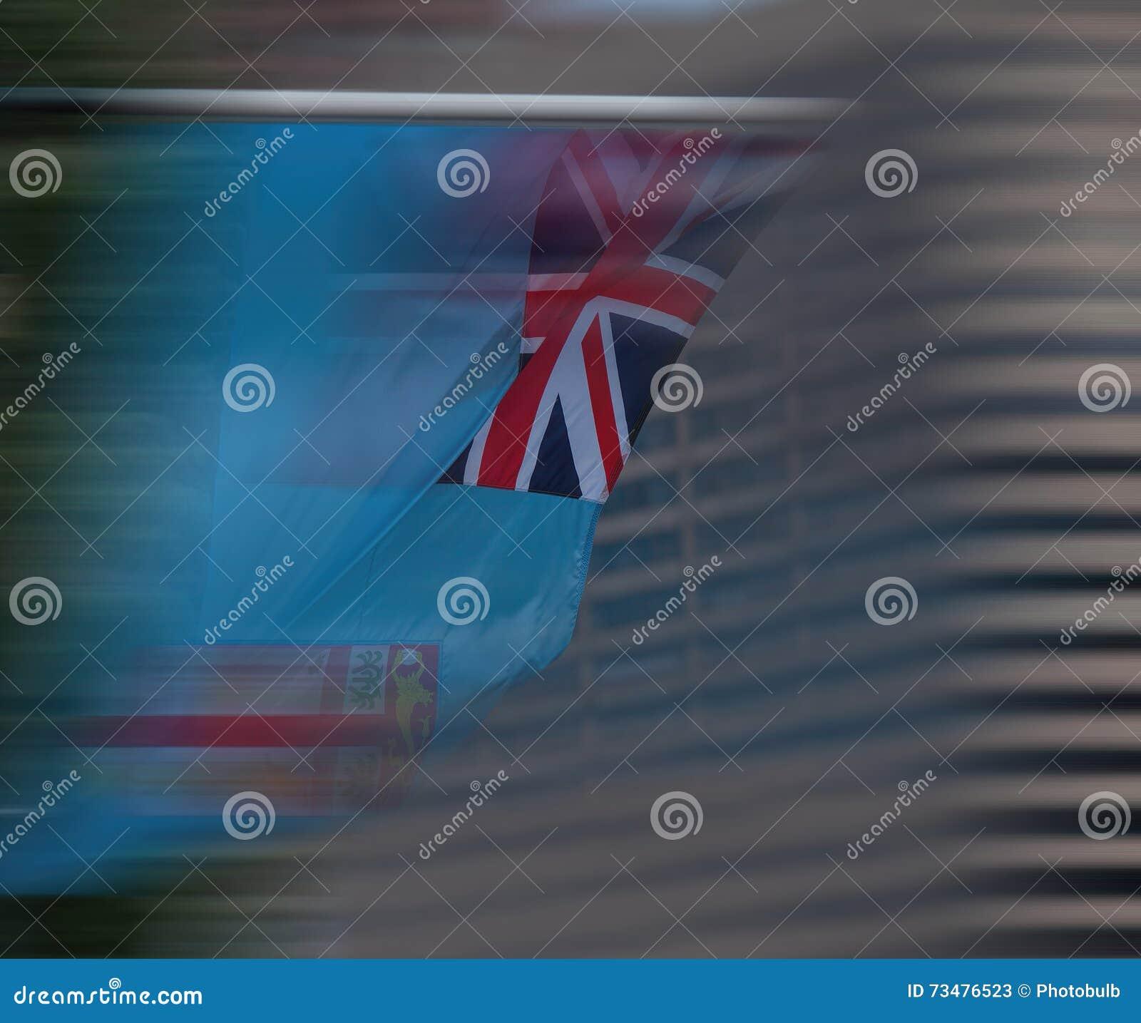 Flagga av Fiji i rörelse