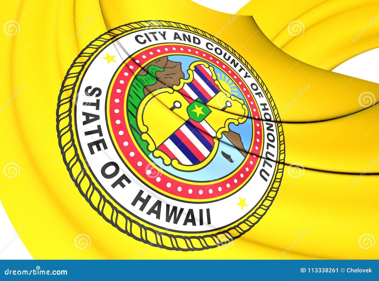 Flagga av Honolulu, USA