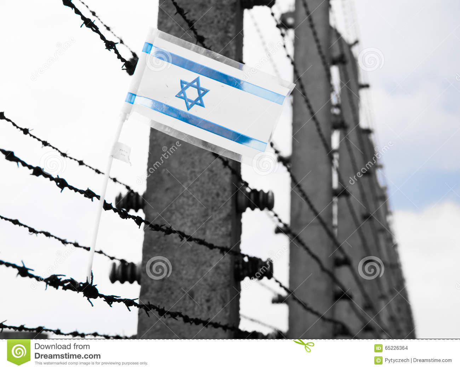 Flagga av Israel på taggtråden