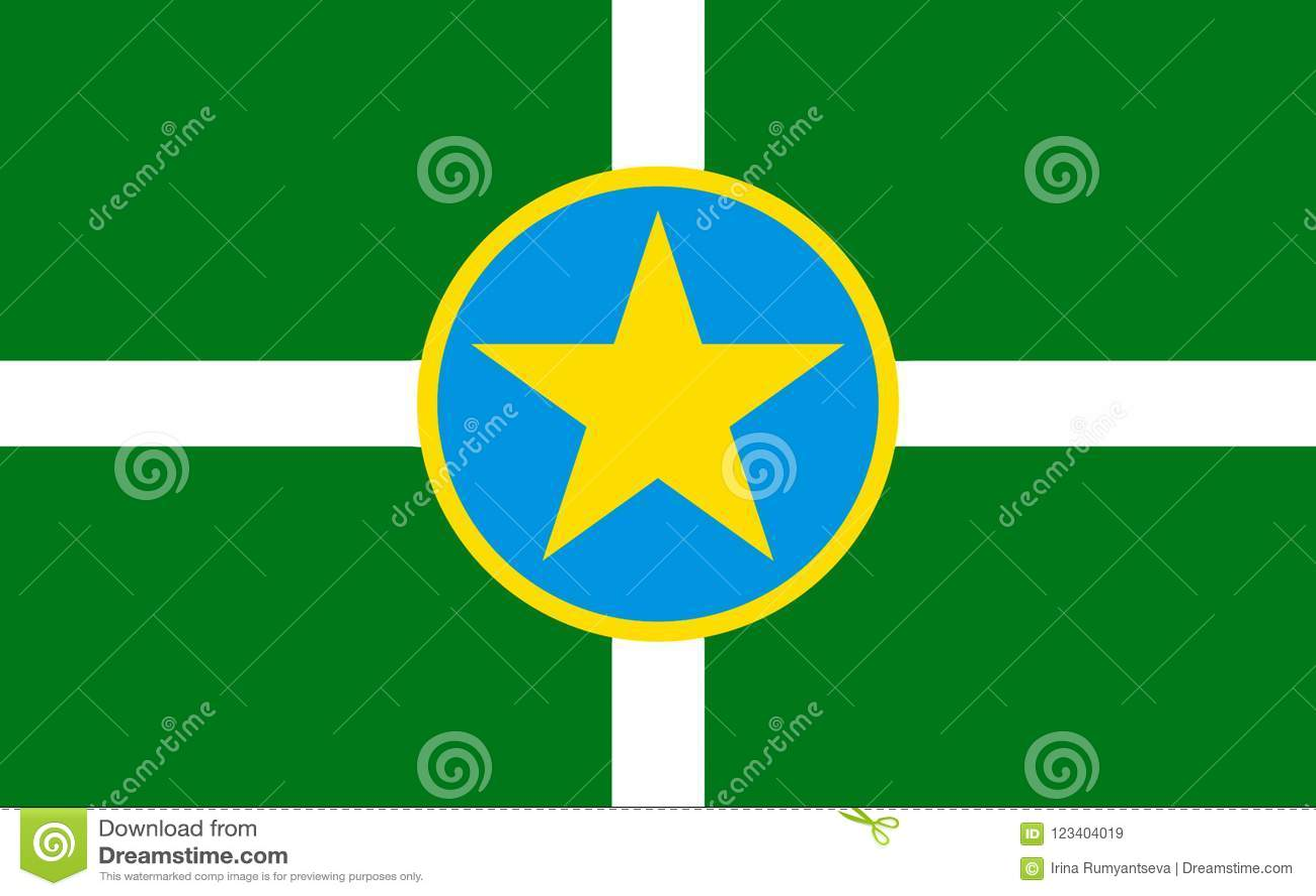 Flagga av Jackson i Mississippi, USA