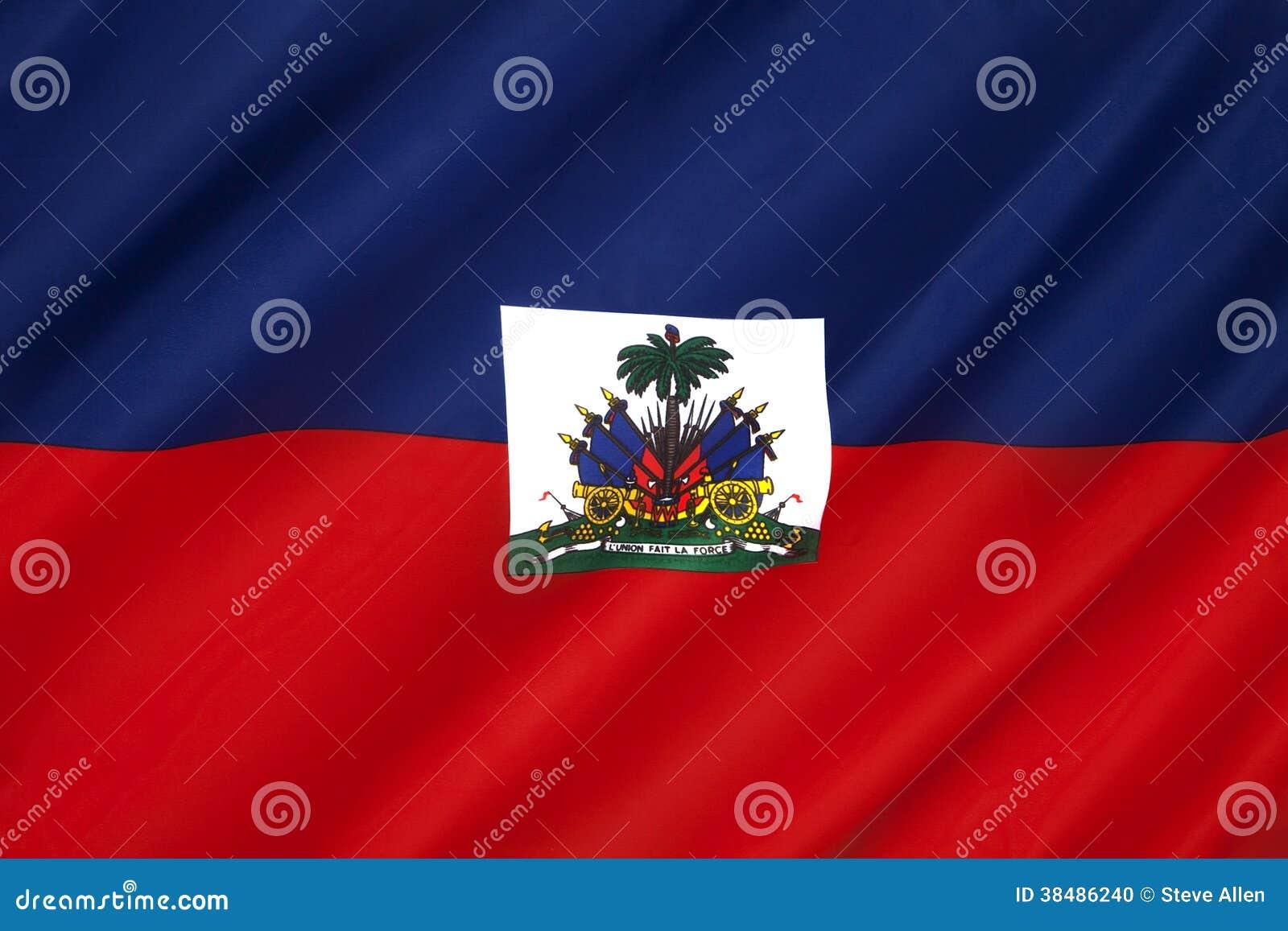 Flagga av karibiska Haiti -