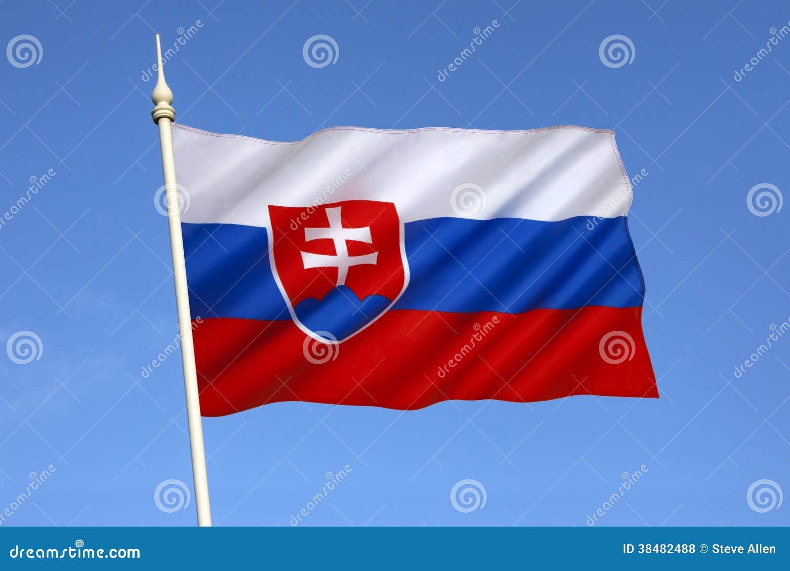 Flagga av Slovakien - Europa