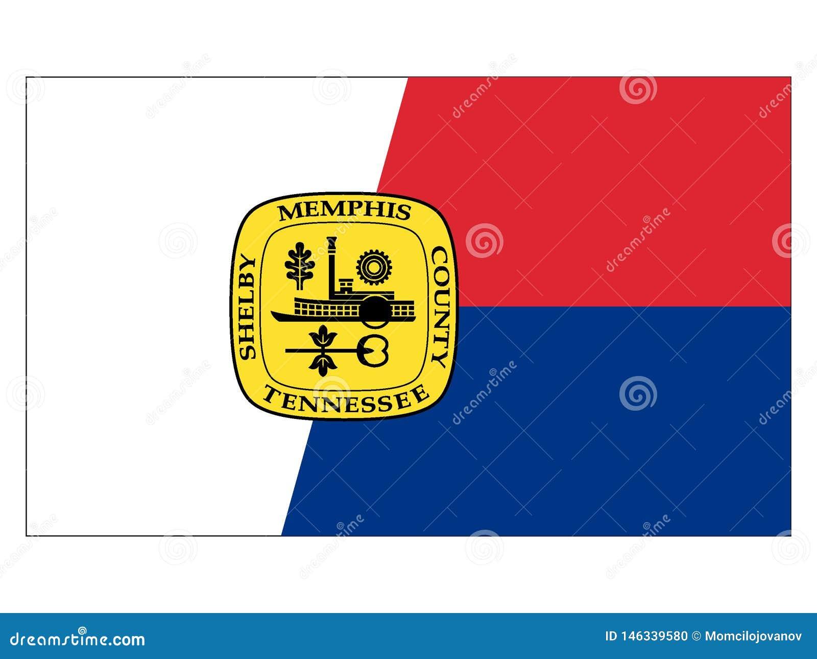 Flagga av USA staden av Memphis, Tennessee
