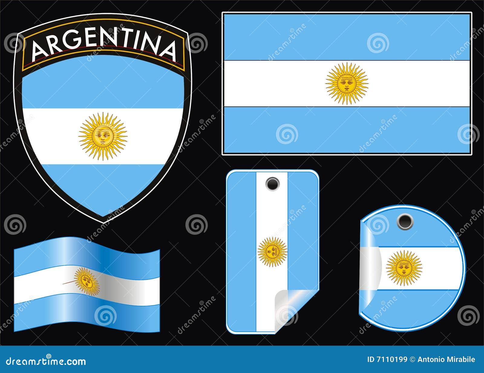 Flagga för argentina vapen e