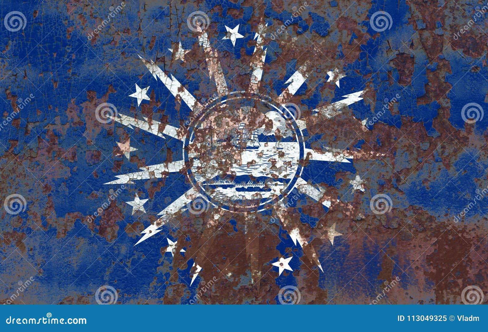 Flagga för buffelstadsrök, New York stat, Förenta staterna av Americ