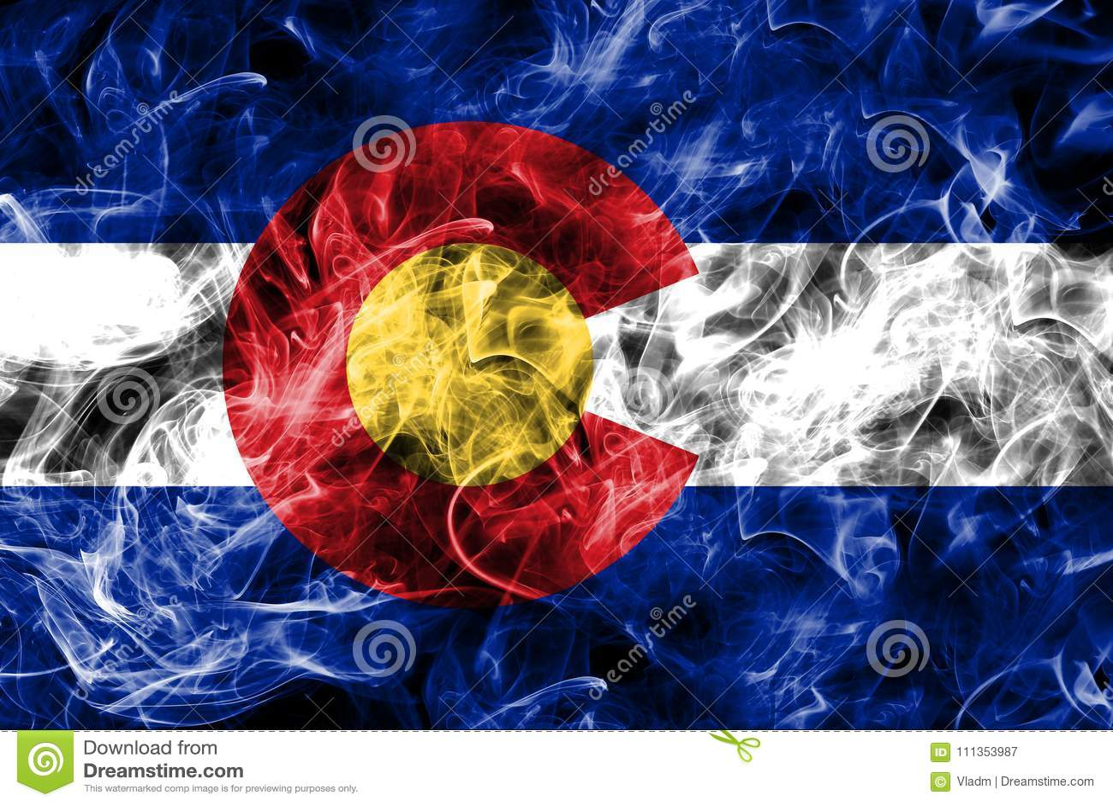 Flagga för Colorado tillståndsrök, Amerikas förenta stater