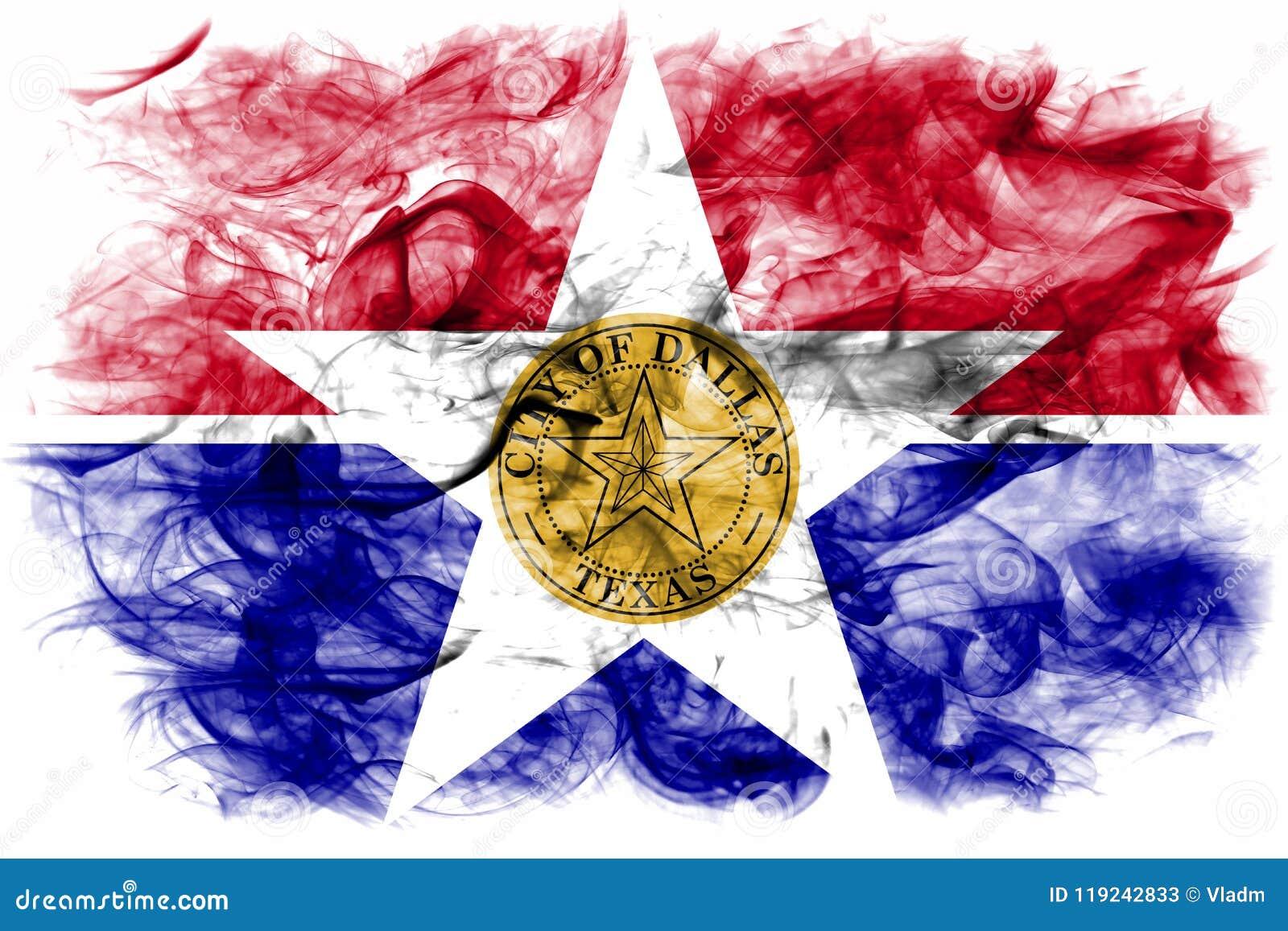 Flagga för Dallas stadsrök, Illinois tillstånd, Amerikas förenta stater