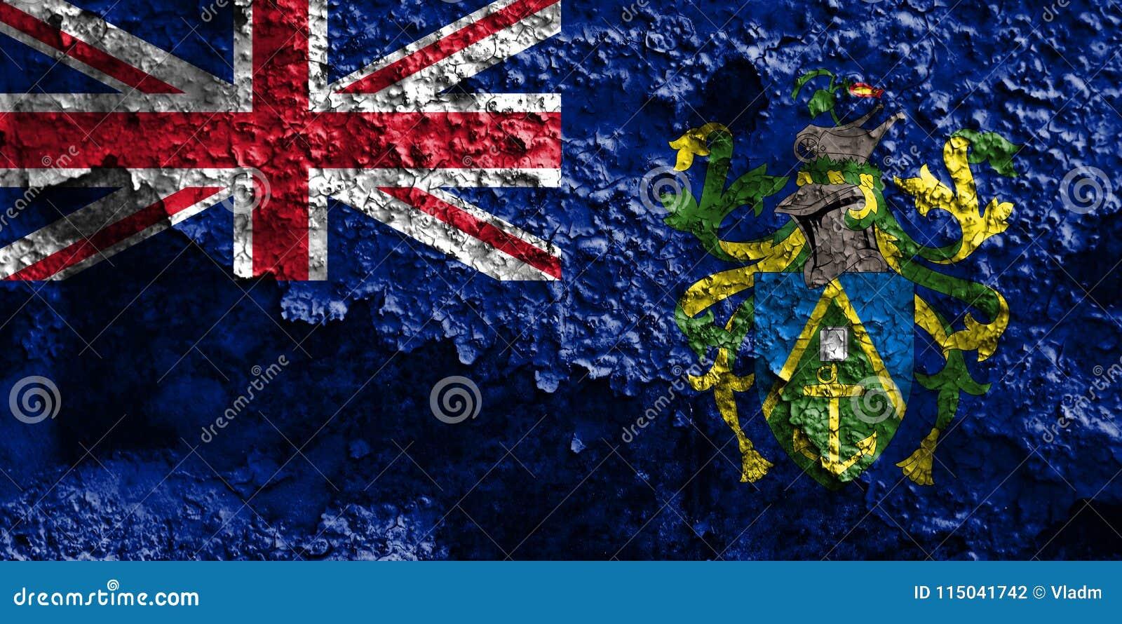 Flagga för grunge för Pitcairn öar, brittiska utländska territorier, britt