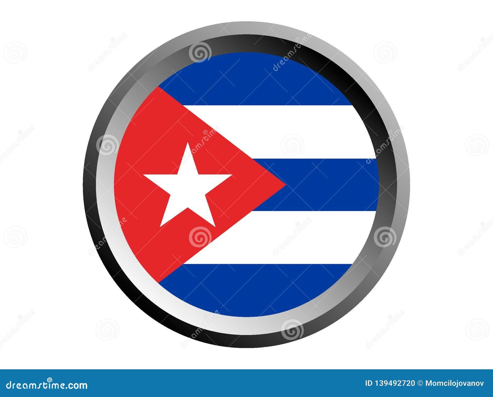 Flagga för runda 3D av Kuban