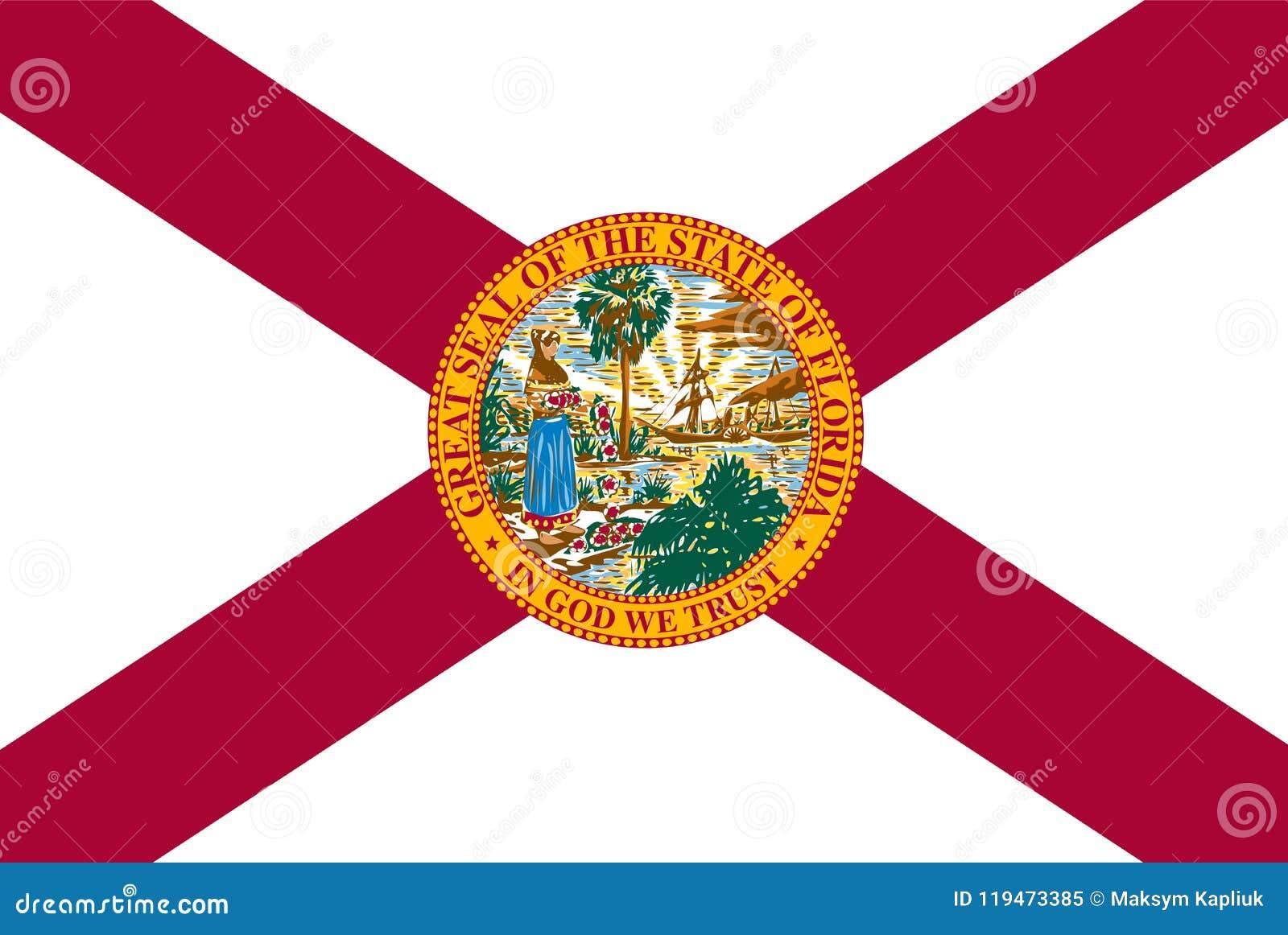 Flagga Florida för statlig vektor