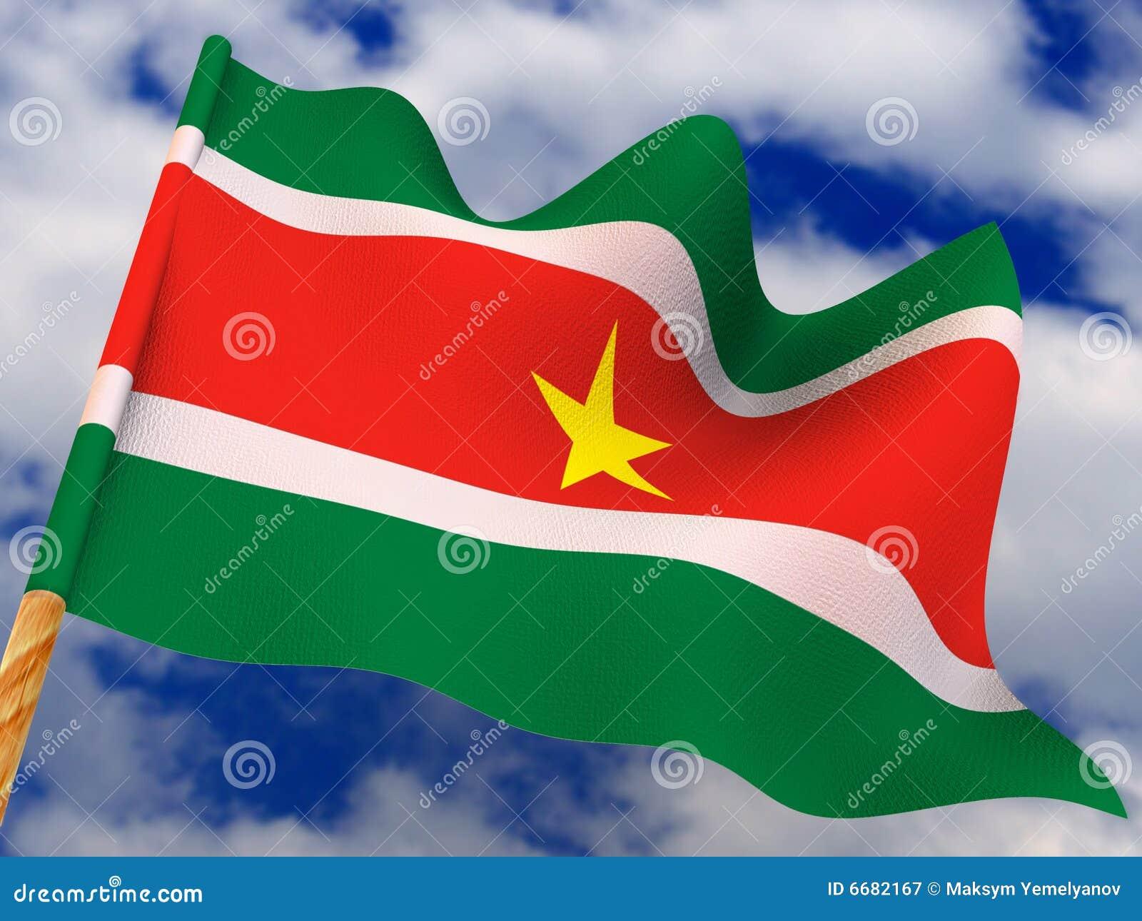 Flagga surinam