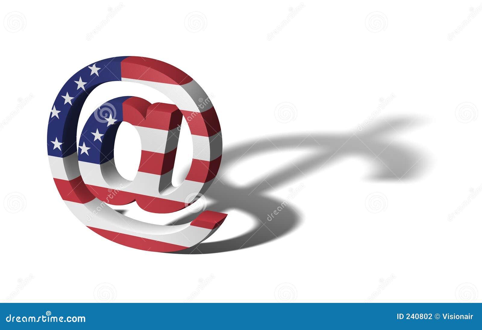 Flagga USA för affär e