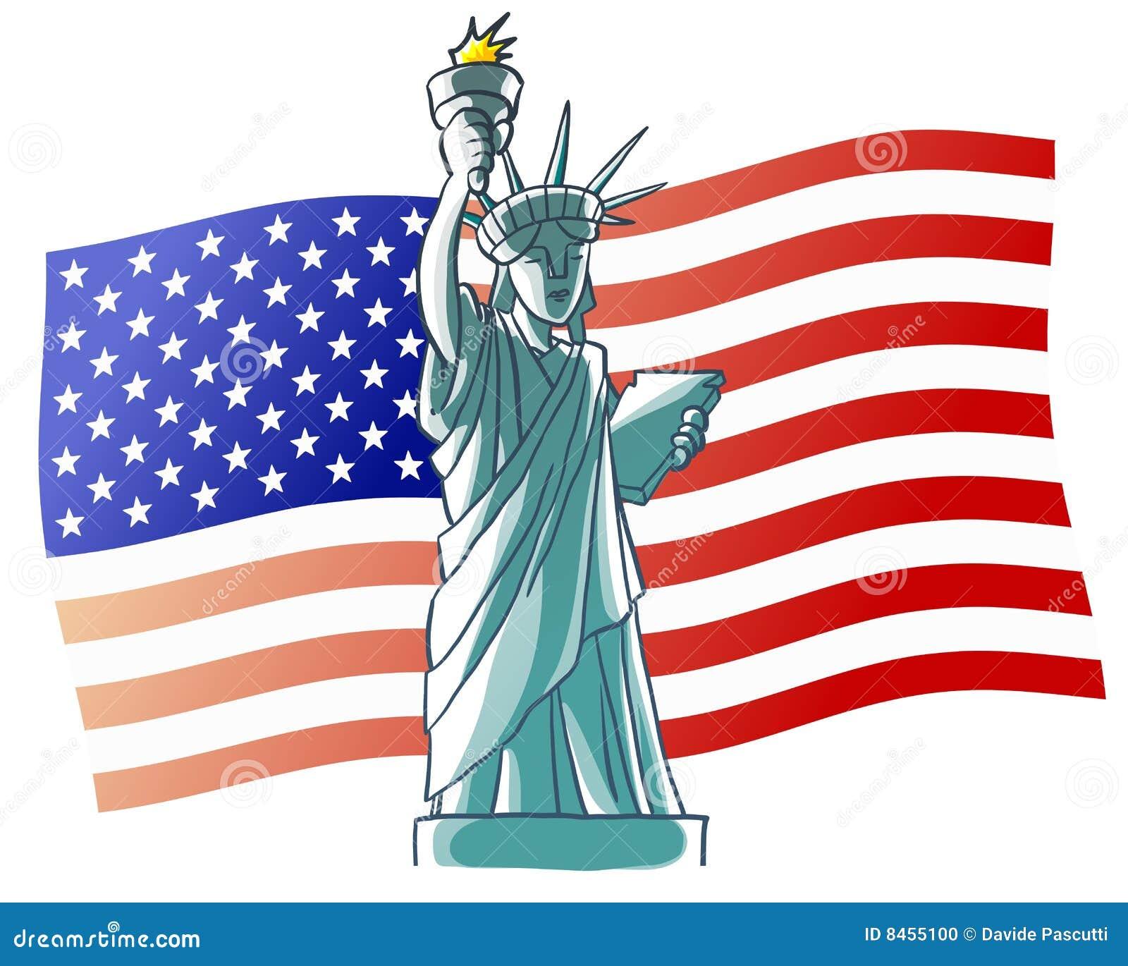 Flaggafrihetstaty USA