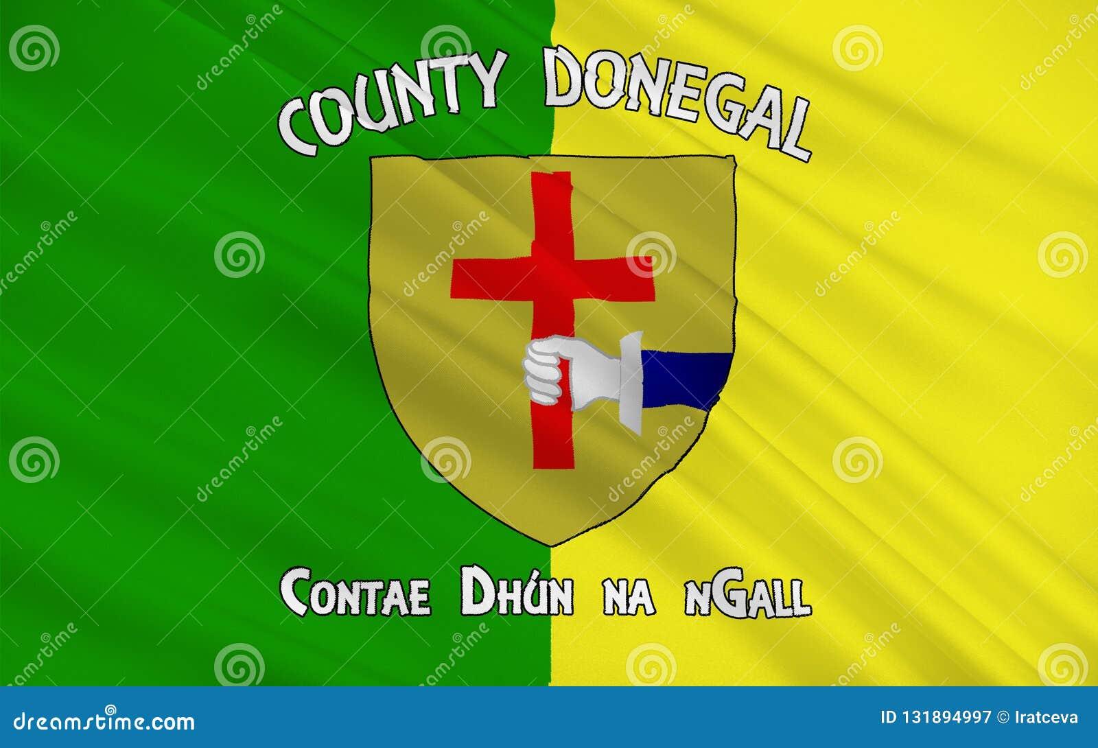 Flagge der Grafschaft Donegal ist eine Grafschaft in Irland