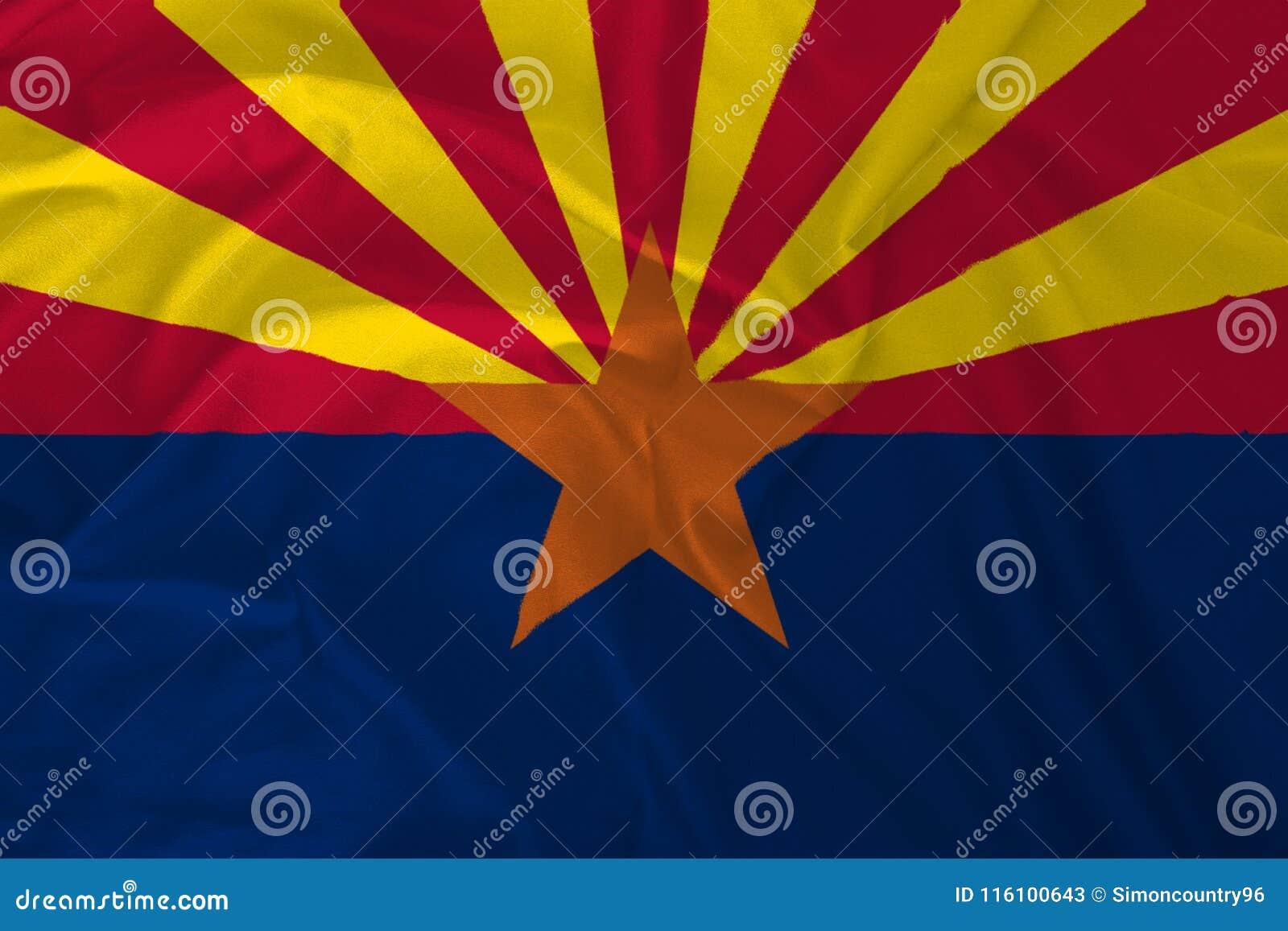 Flagge von Arizona Backgroud, der Grand Canyon -Zustand