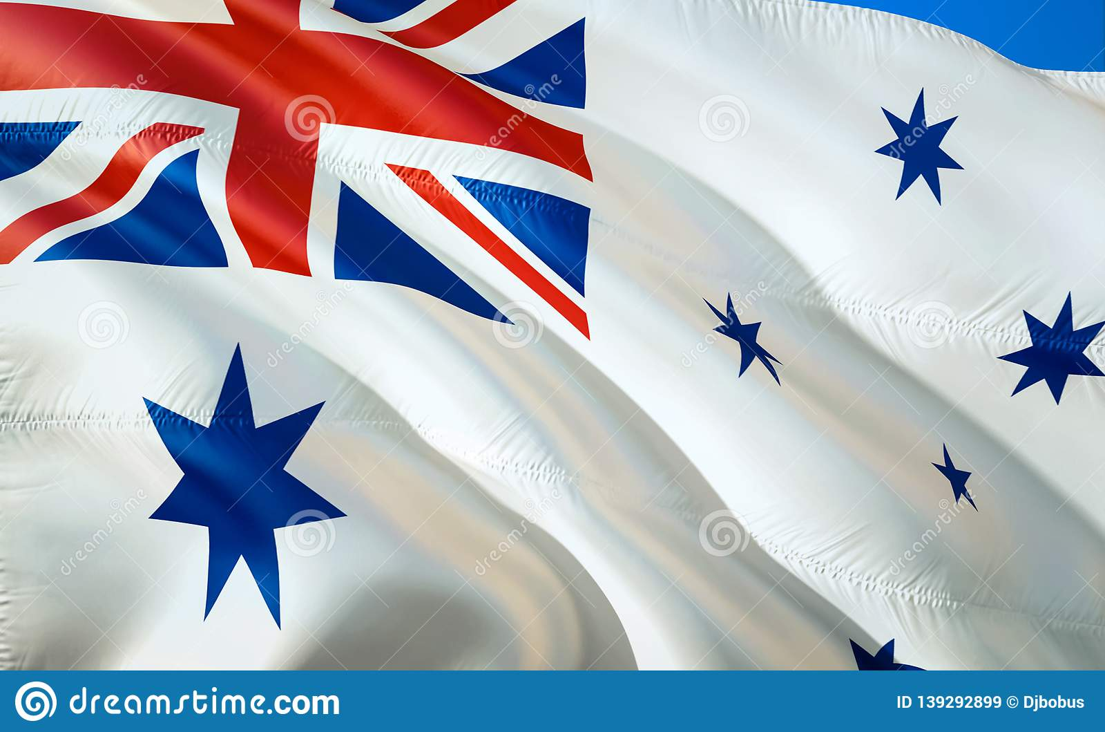 Flagge von Australien-Marinefahne wellenartig bewegendes Design der Flagge 3D r eingebürgert