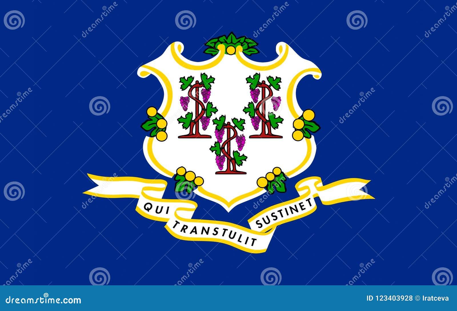 Flagge von Connecticut, USA