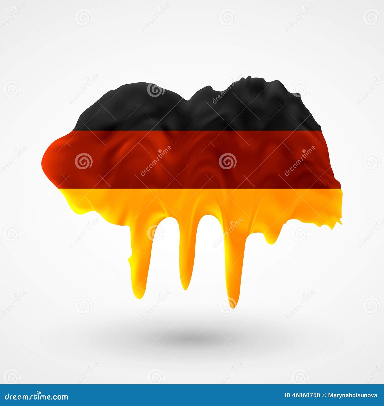 flagge von deutschland malte farben vektor abbildung bild 46860750. Black Bedroom Furniture Sets. Home Design Ideas