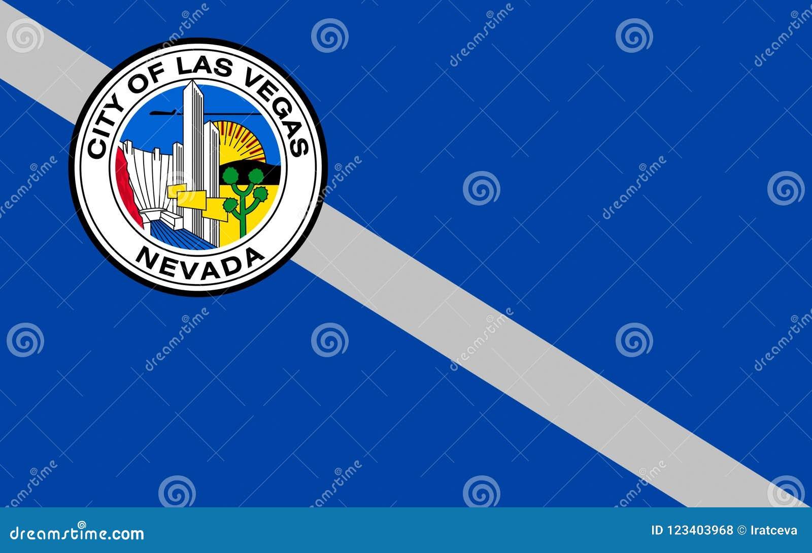 Flagge von Las Vegas in Nevada, USA
