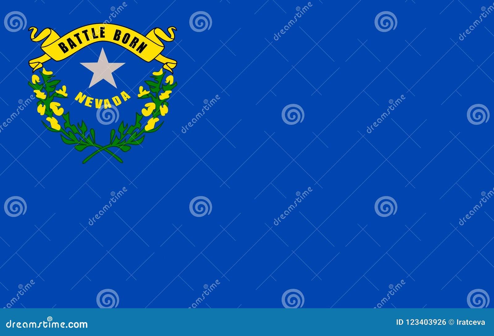Flagge von Nevada, USA